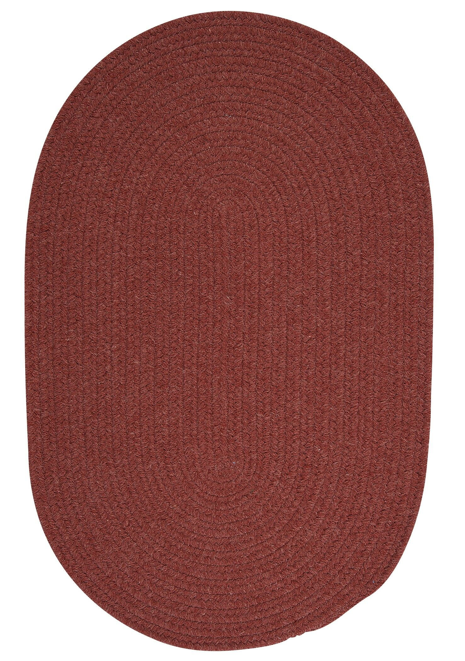 Navarrette Red Area Rug Rug Size: Oval 4' x 6'