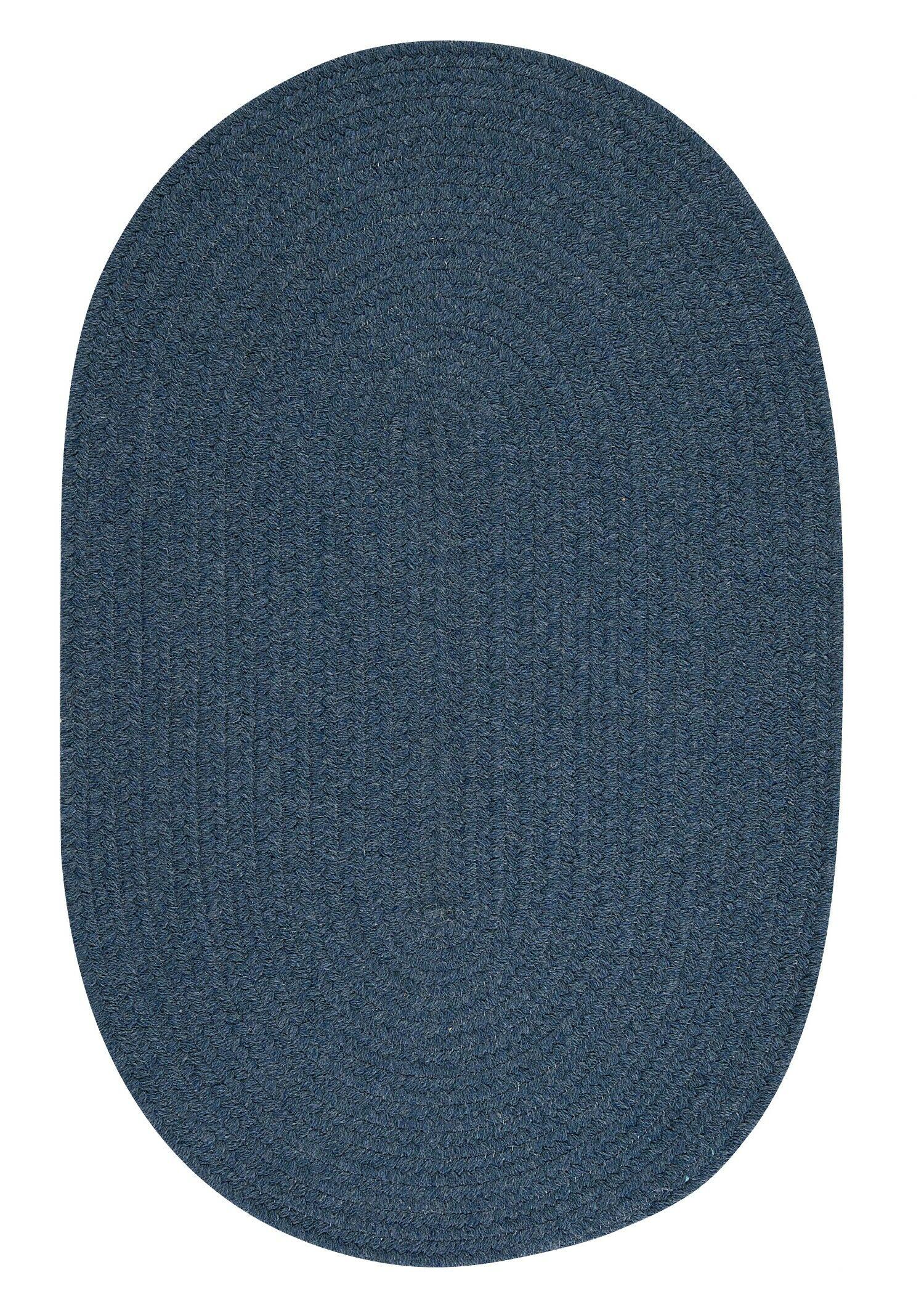 Navarrette Blue Area Rug Rug Size: Oval 8' x 11'