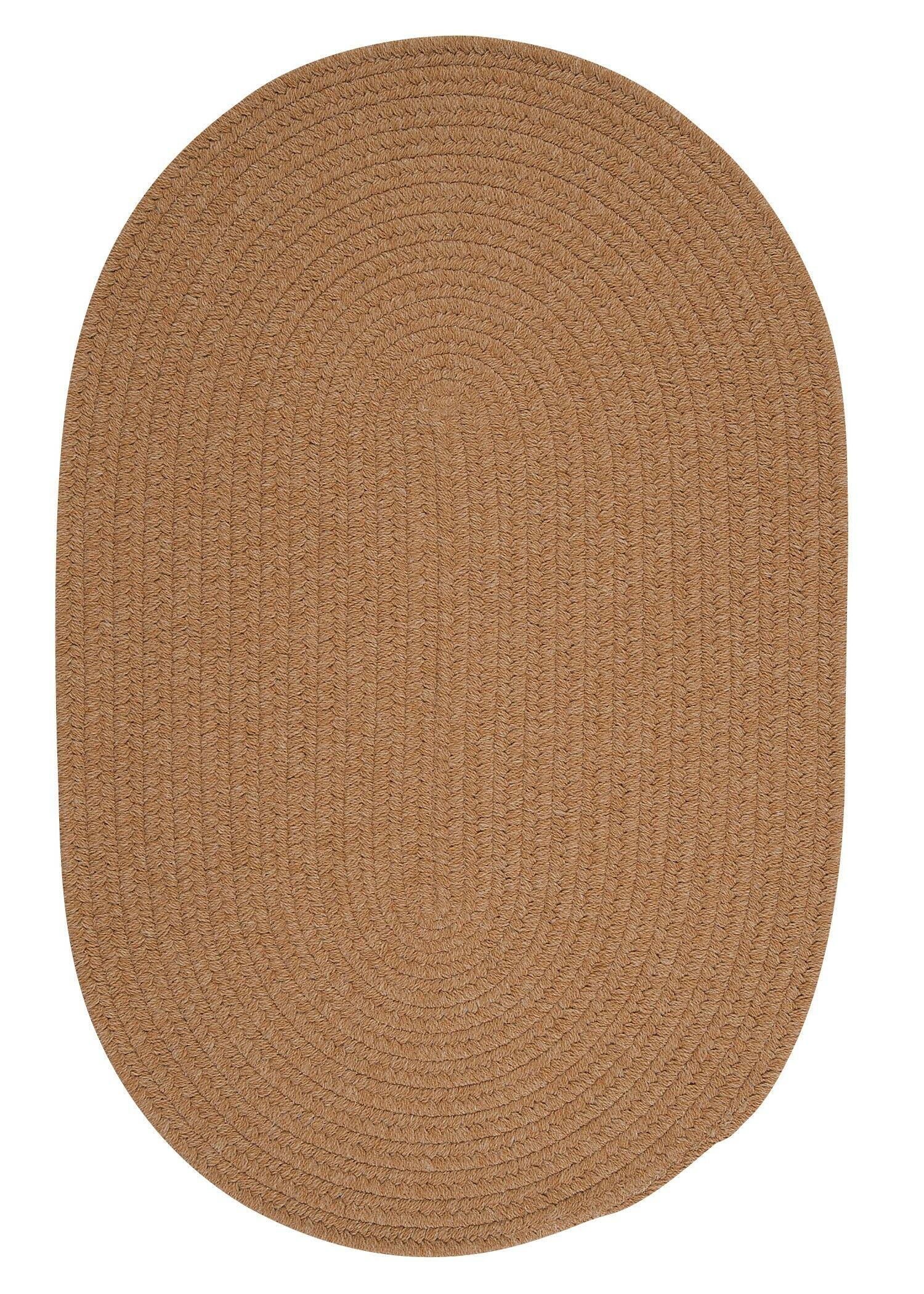 Navarrette Gold Area Rug Rug Size: Oval 10' x 13'