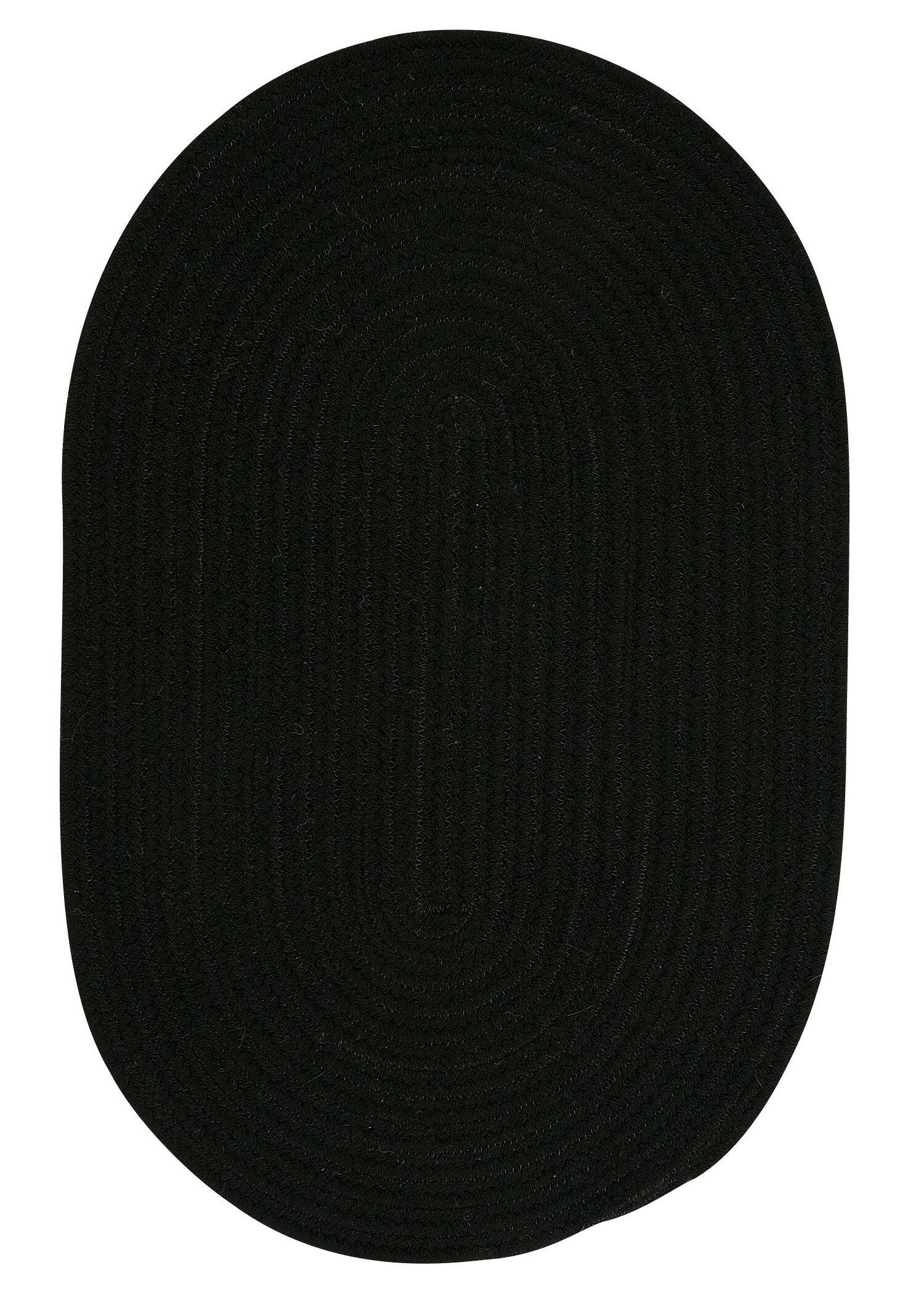 Navarrette Black Area Rug Rug Size: Oval 2' x 6'