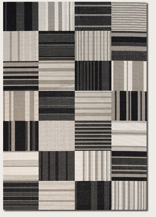Marche Onyx/Ivory Indoor/Outdoor Area Rug Rug Size: Rectangle 7'10