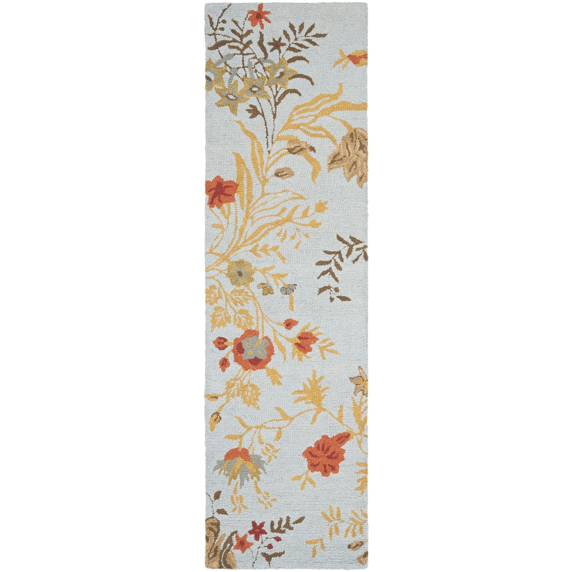 Ginger Blue Area Rug Rug Size: Runner 2'3