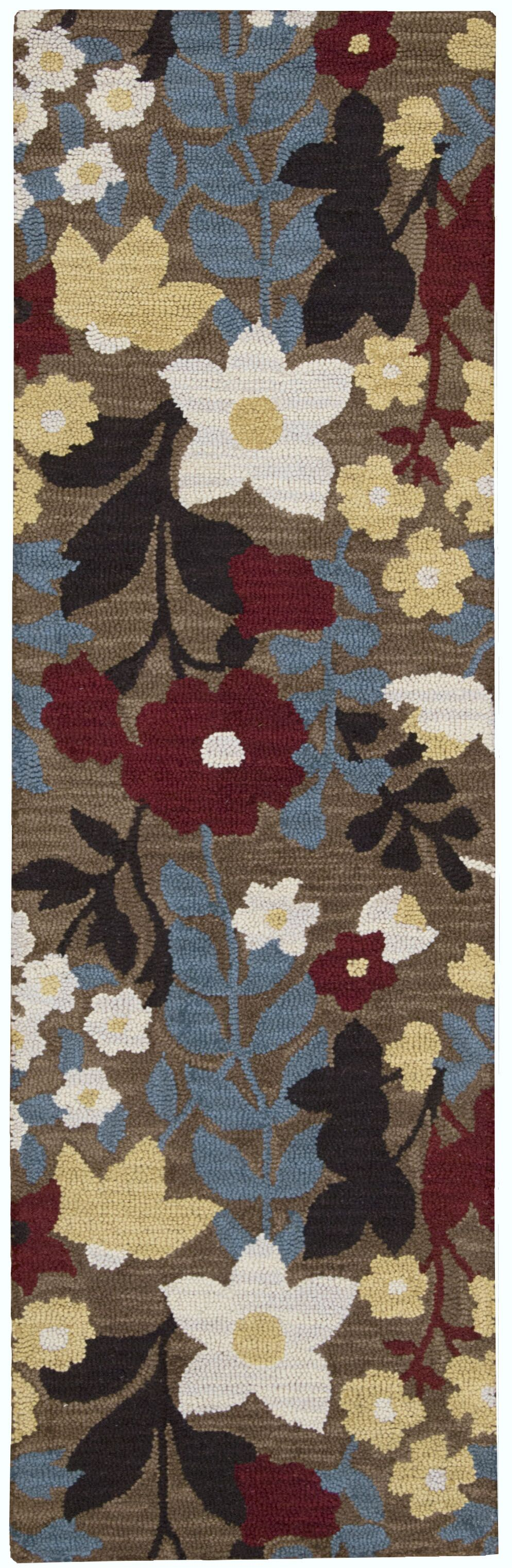 Huetter Hand-Tufted Wool Brown Area Rug Rug Size: Runner 2'3