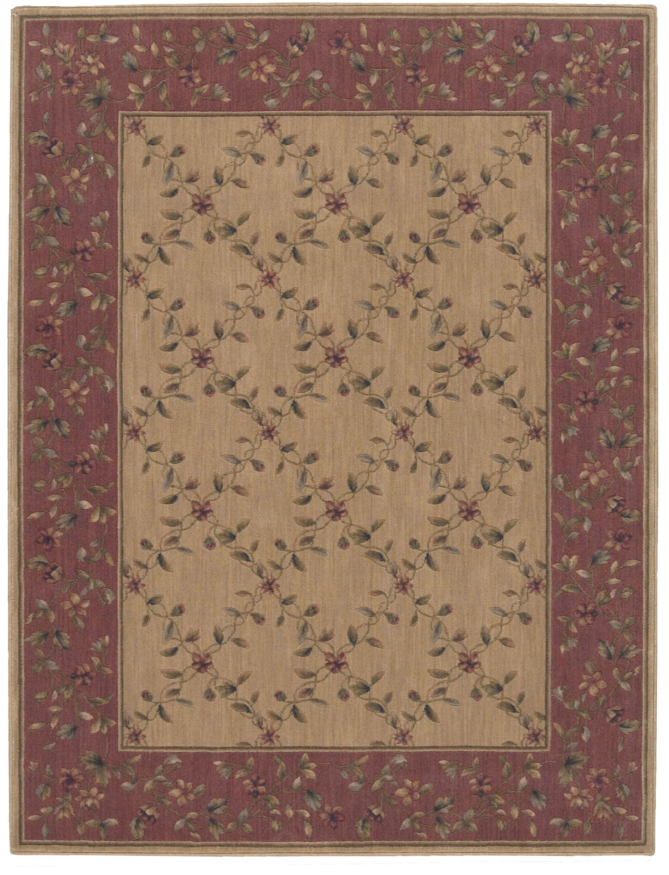 Sharon Brown/Red Area Rug Rug Size: Rectangle 7'9