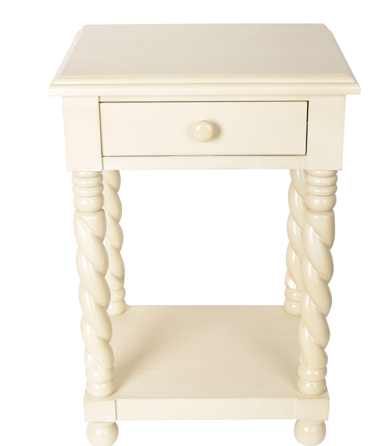 Lilliana End Table Color: White