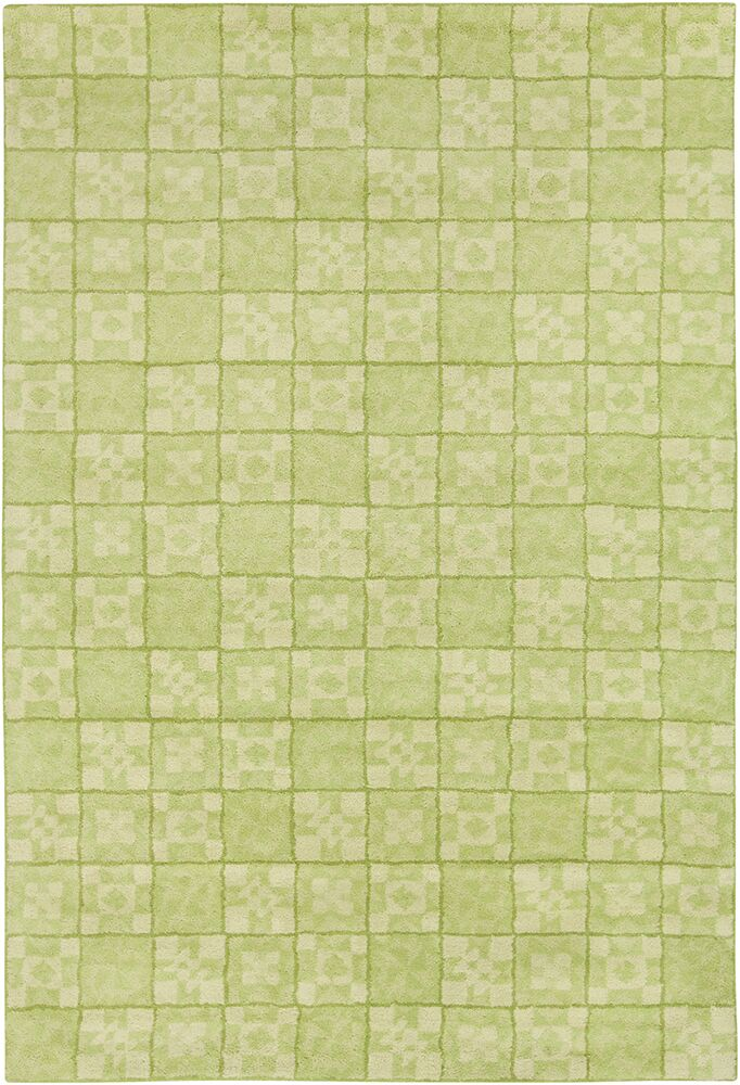 Mazie Hand Tufted Wool Green Area Rug Rug Size: 8' x 10'