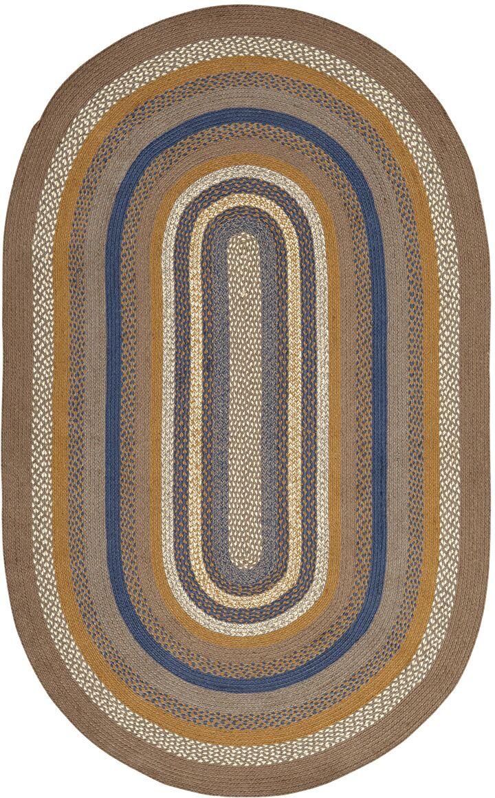 Roxanne Gray Area Rug Rug Size: Oval 5' x 8'