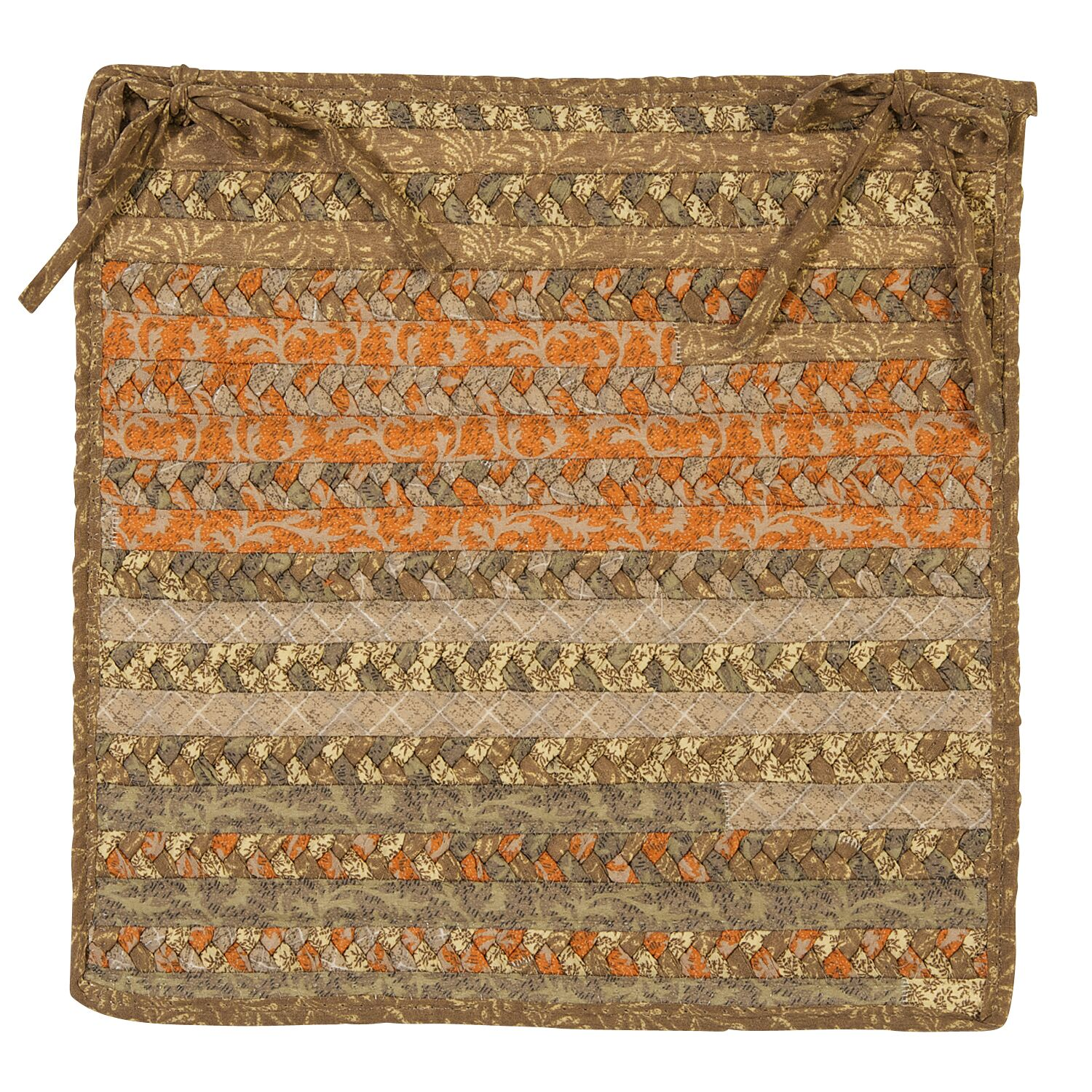 Byron Dining Chair Cushion Color: Rusted Vine
