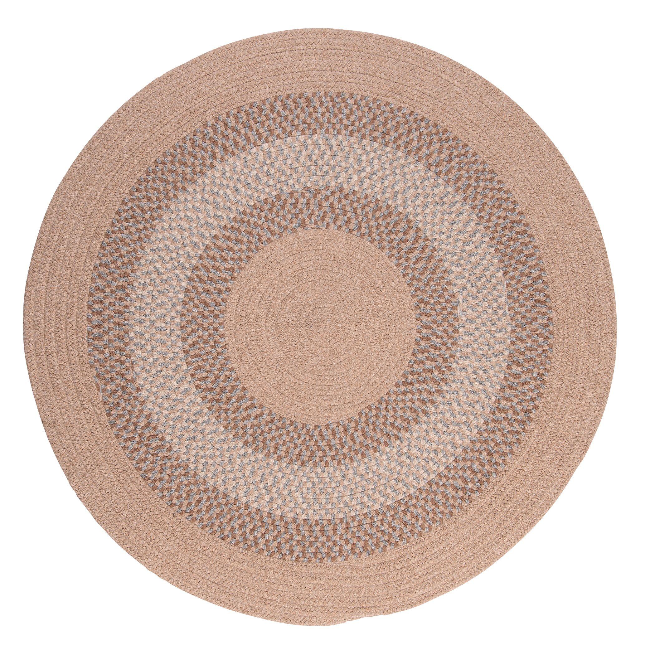 Serafin Oatmeal Area Rug Rug Size: Round 12'