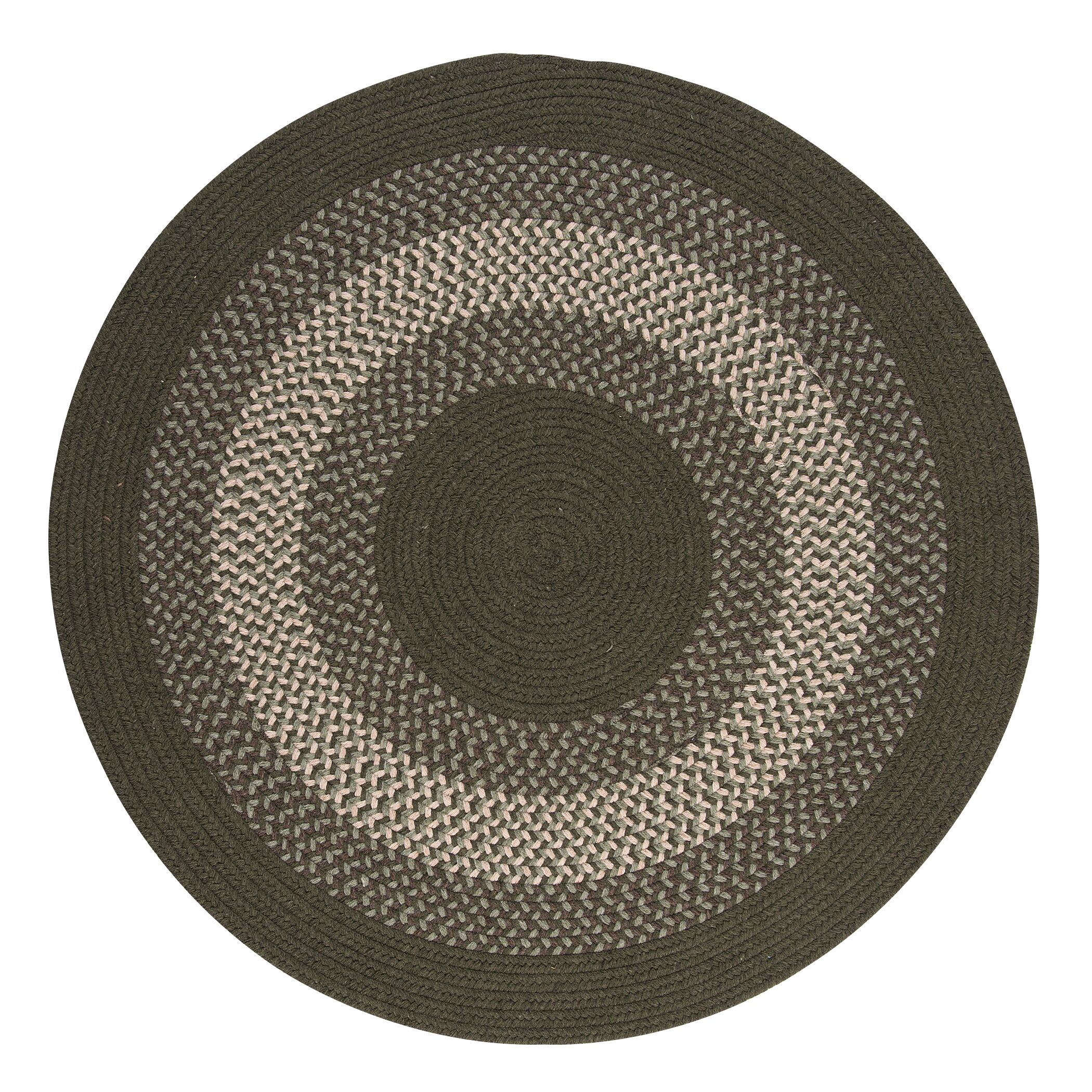 Serafin Olive Area Rug Rug Size: Round 6'