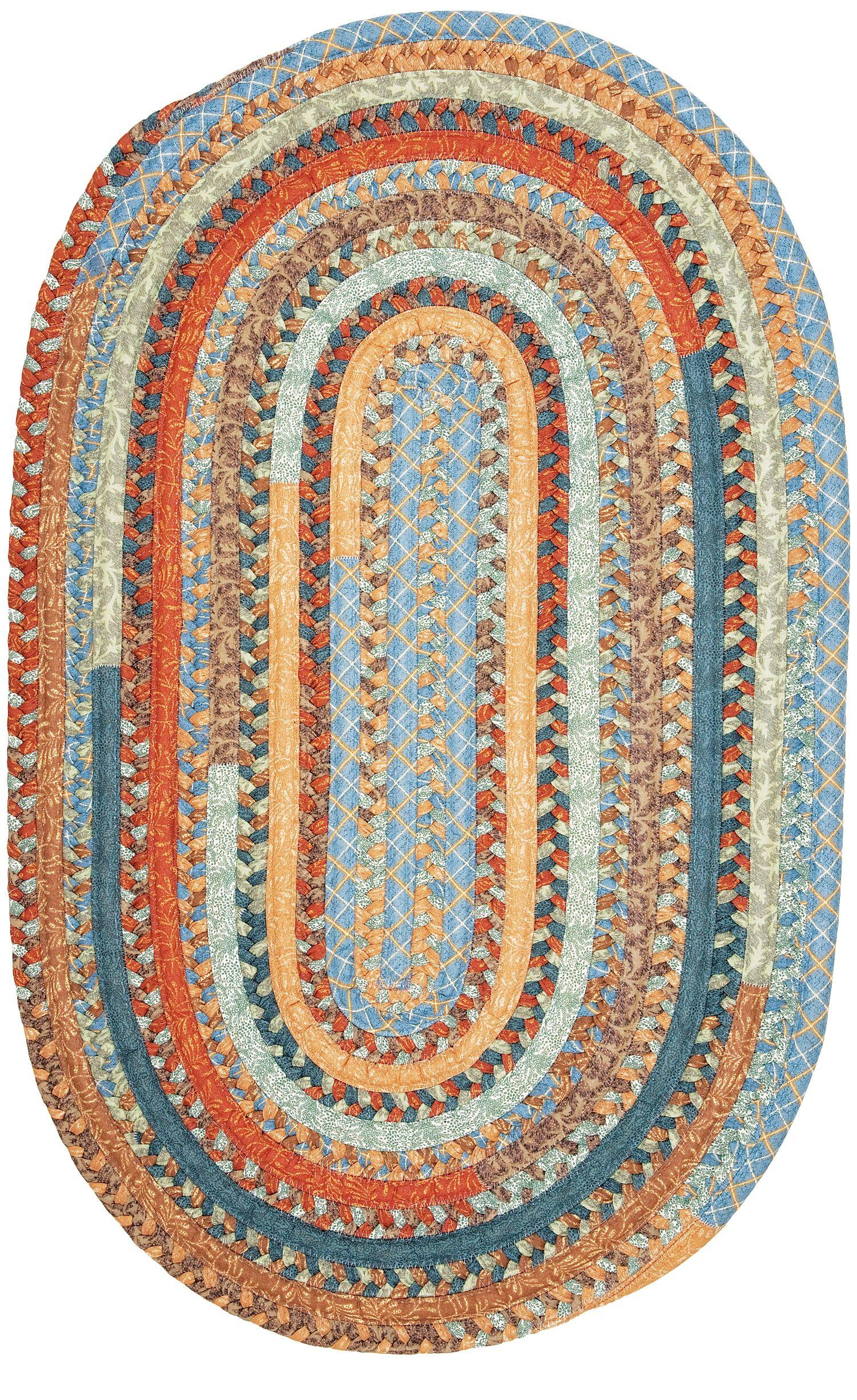 Surette Vintage Blue Multi Kitchen Area Rug Rug Size: Round 10'