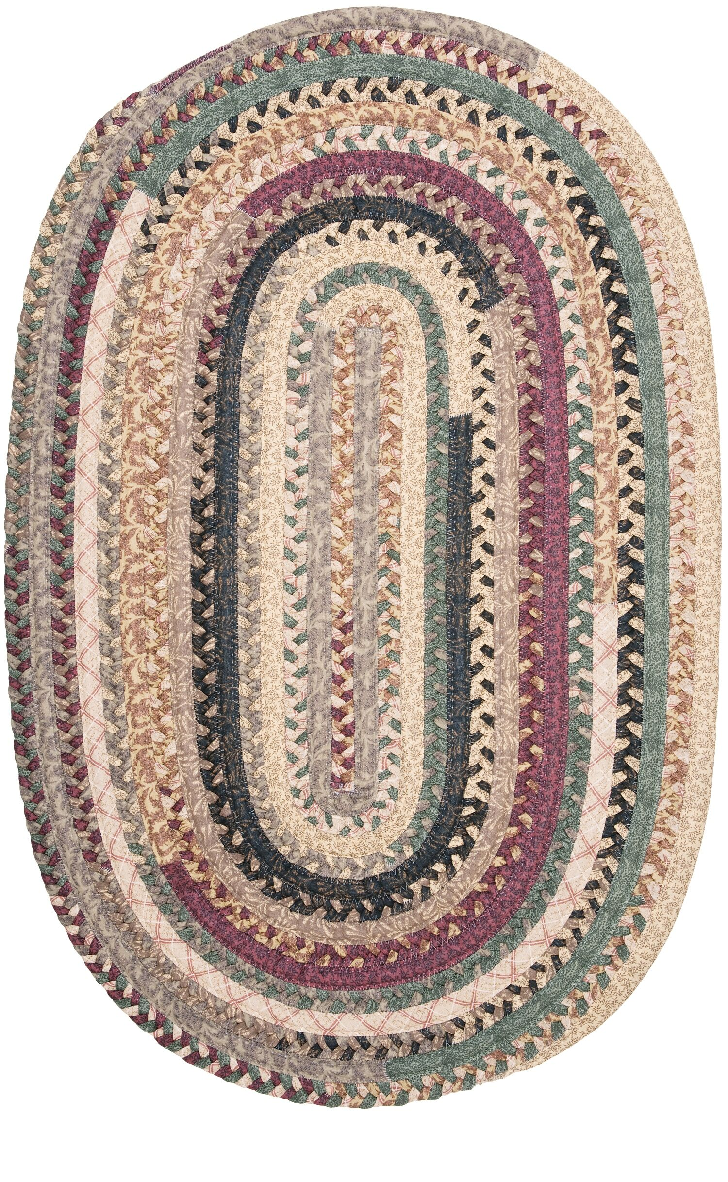 Lokey Cranberry Blend Kitchen Area Rug Rug Size: Round 10'