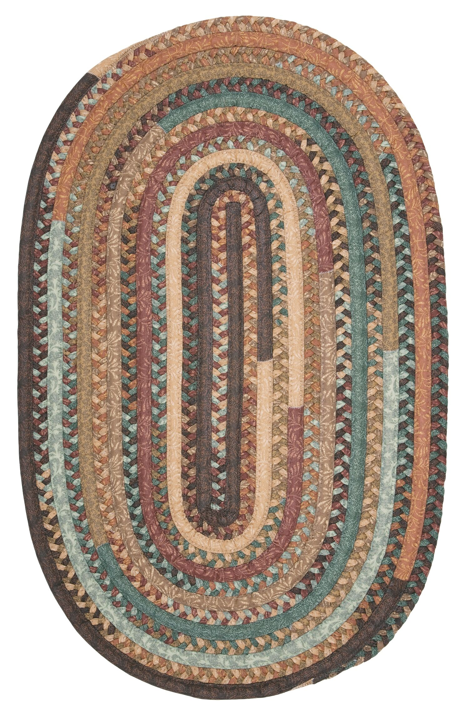 Surette Warm Chestnut Kitchen Area Rug Rug Size: Oval 5' x 8'