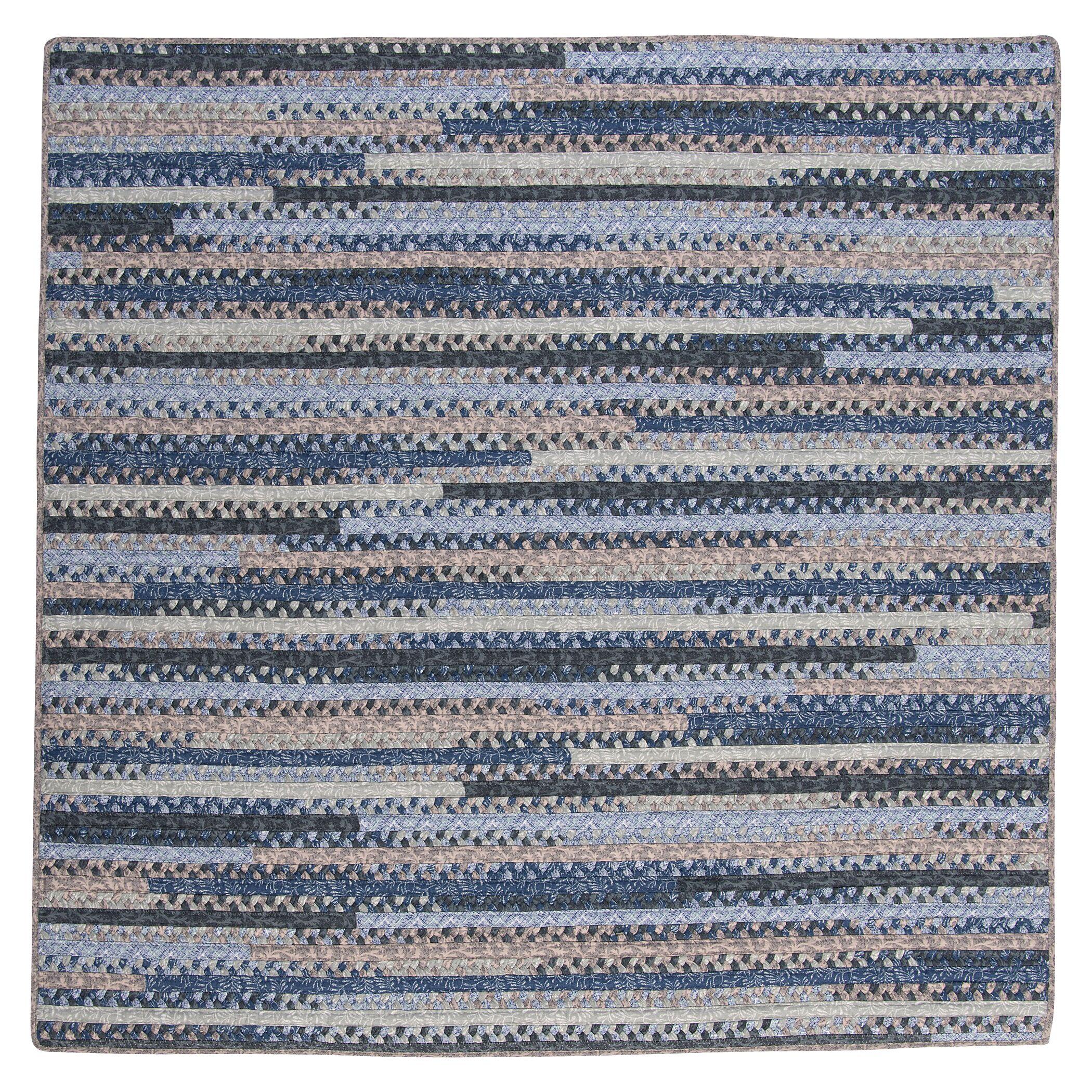 Byron Blue Area Rug Rug Size: Square 12'