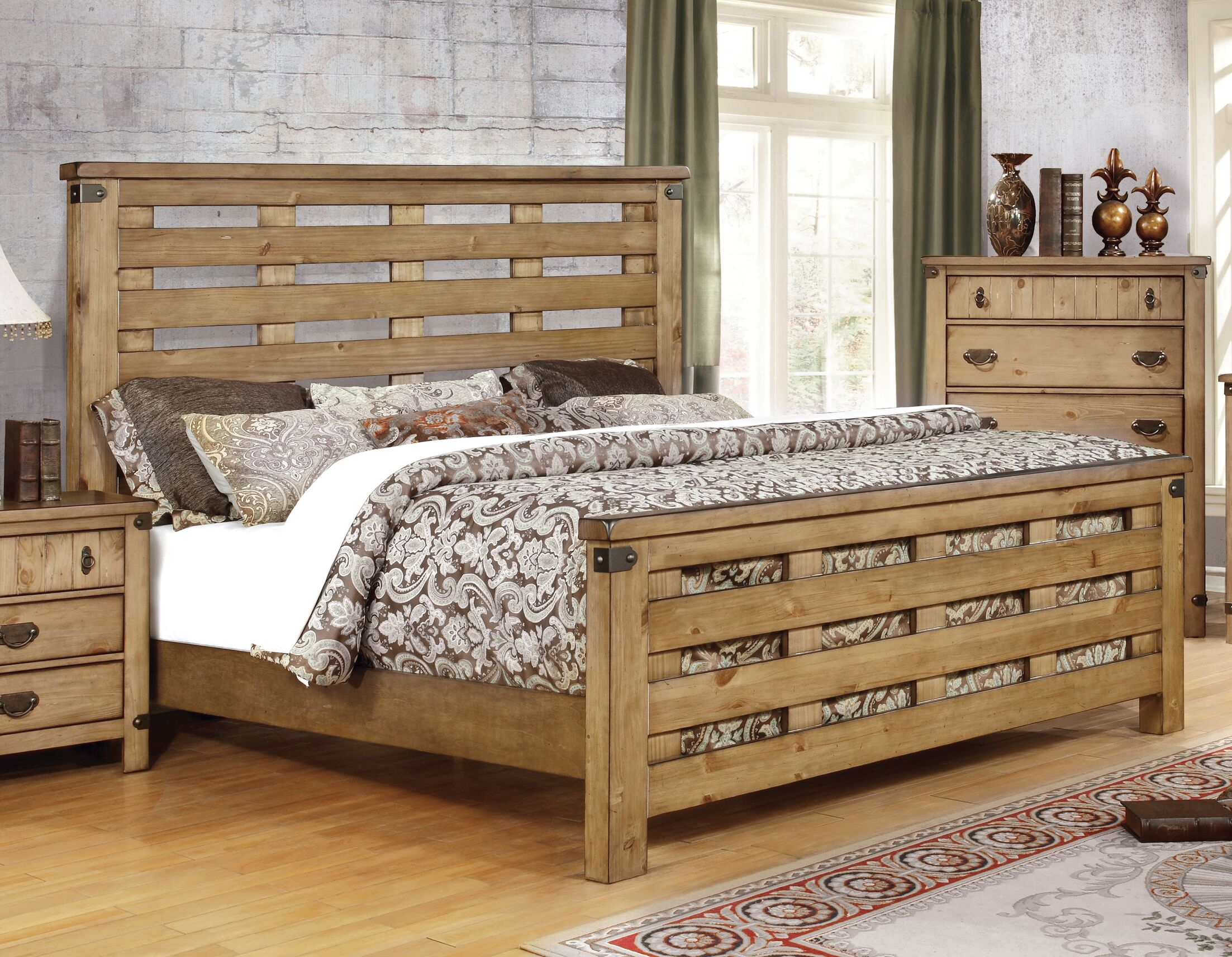 Hemenway Rustic Panel Bed