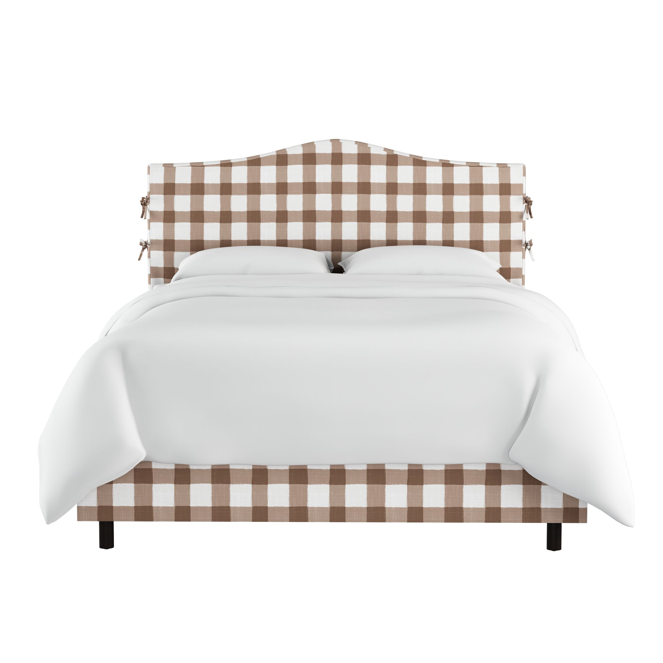 Linnet Linen Upholstered Panel Bed Size: King, Color: Taupe