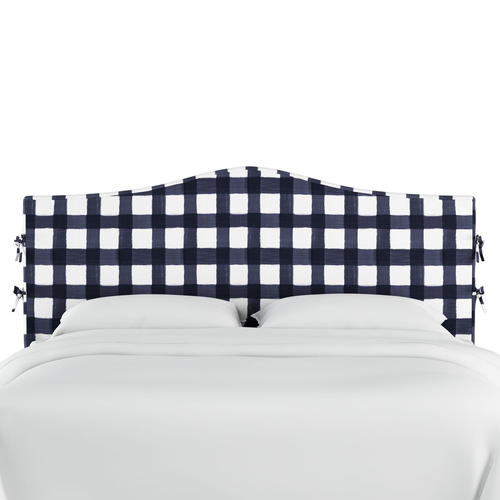 Linnet Linen Upholstered Panel Headboard Size: Queen, Color: Blue