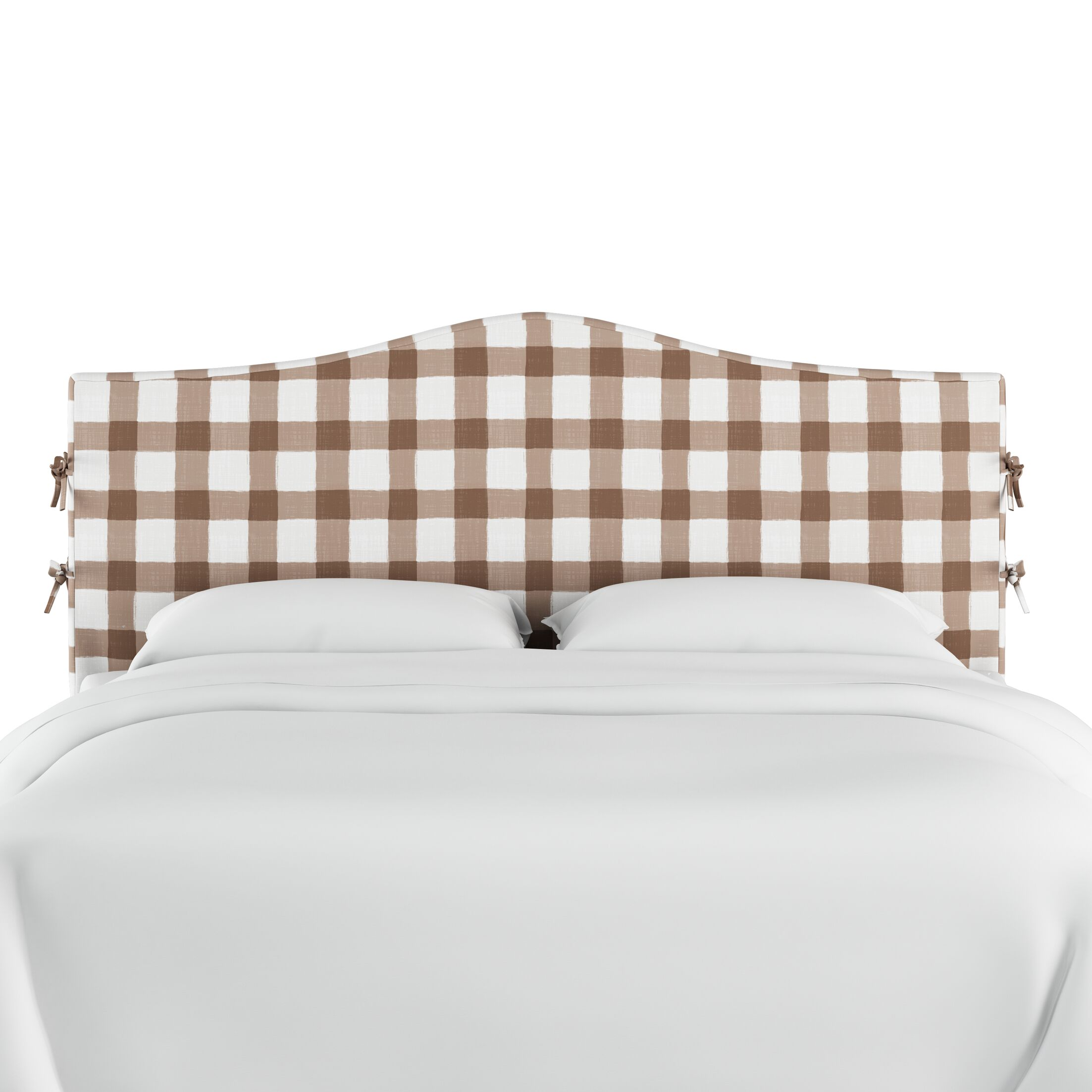 Linnet Linen Upholstered Panel Headboard Size: King, Color: Taupe