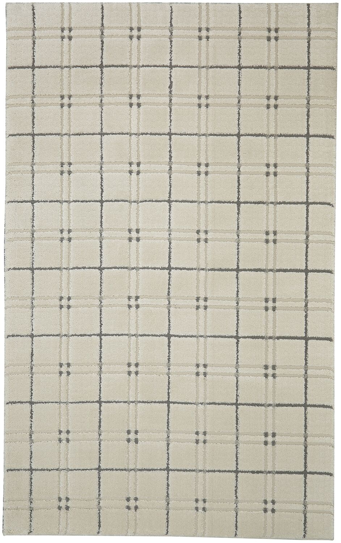 Orrin Gingham Cream/Gray Area Rug Rug Size: Rectangle 5' x 7'