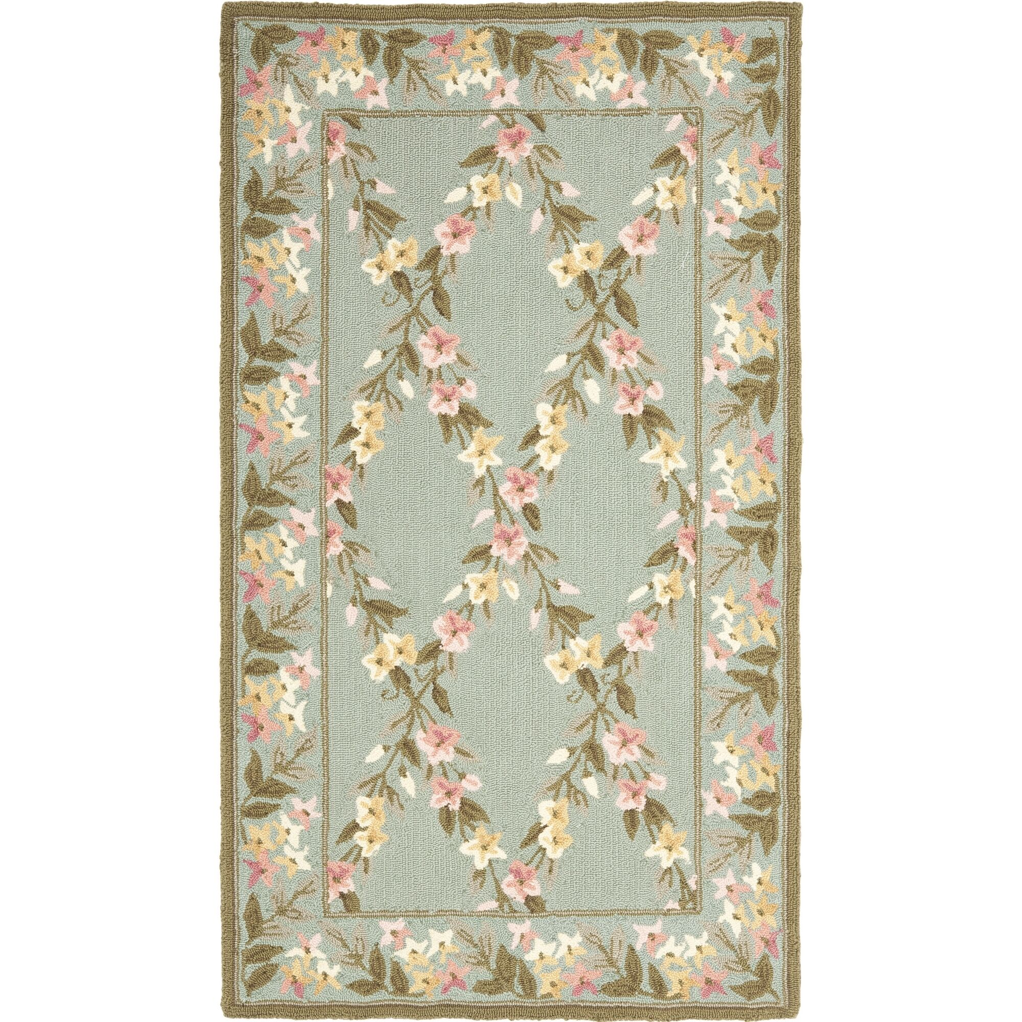 Pipers Teal/Olive Rug Rug Size: Rectangle 7'9