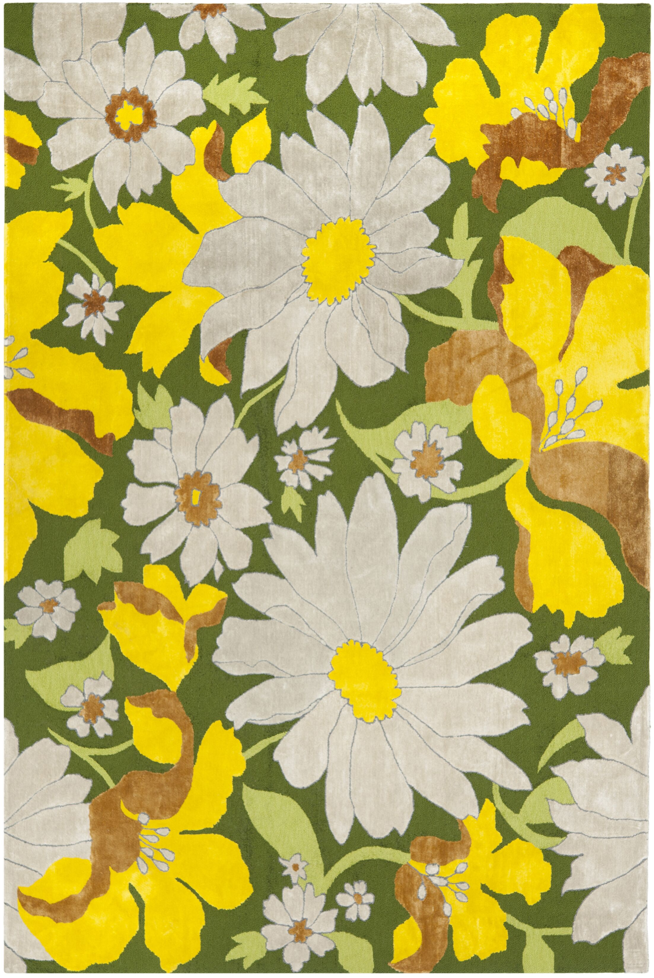 Pipers Yellow/Beige Area Rug Rug Size: Rectangle 8' x 10'