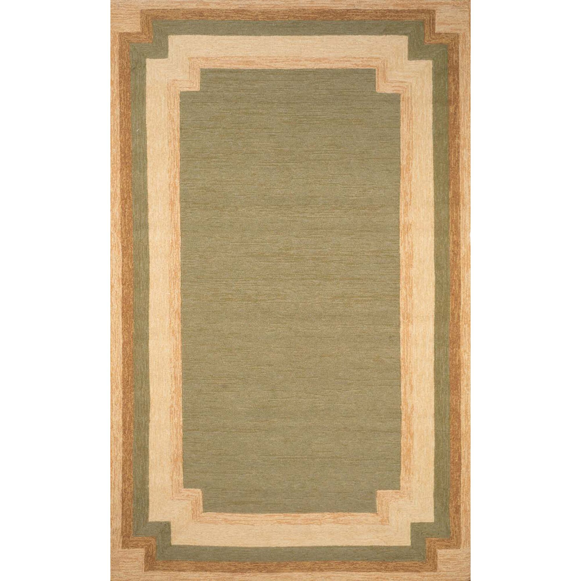 Dazey Hand-Tufted Green/Beige Indoor/Outdoor Area Rug Rug Size: Runner 2' x 8'