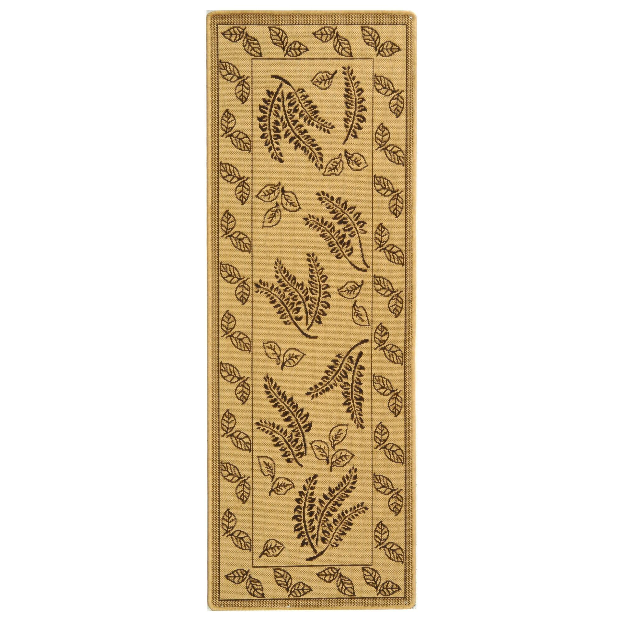 Laurel Natural/Brown Outdoor Rug Rug Size: Rectangle 2'7