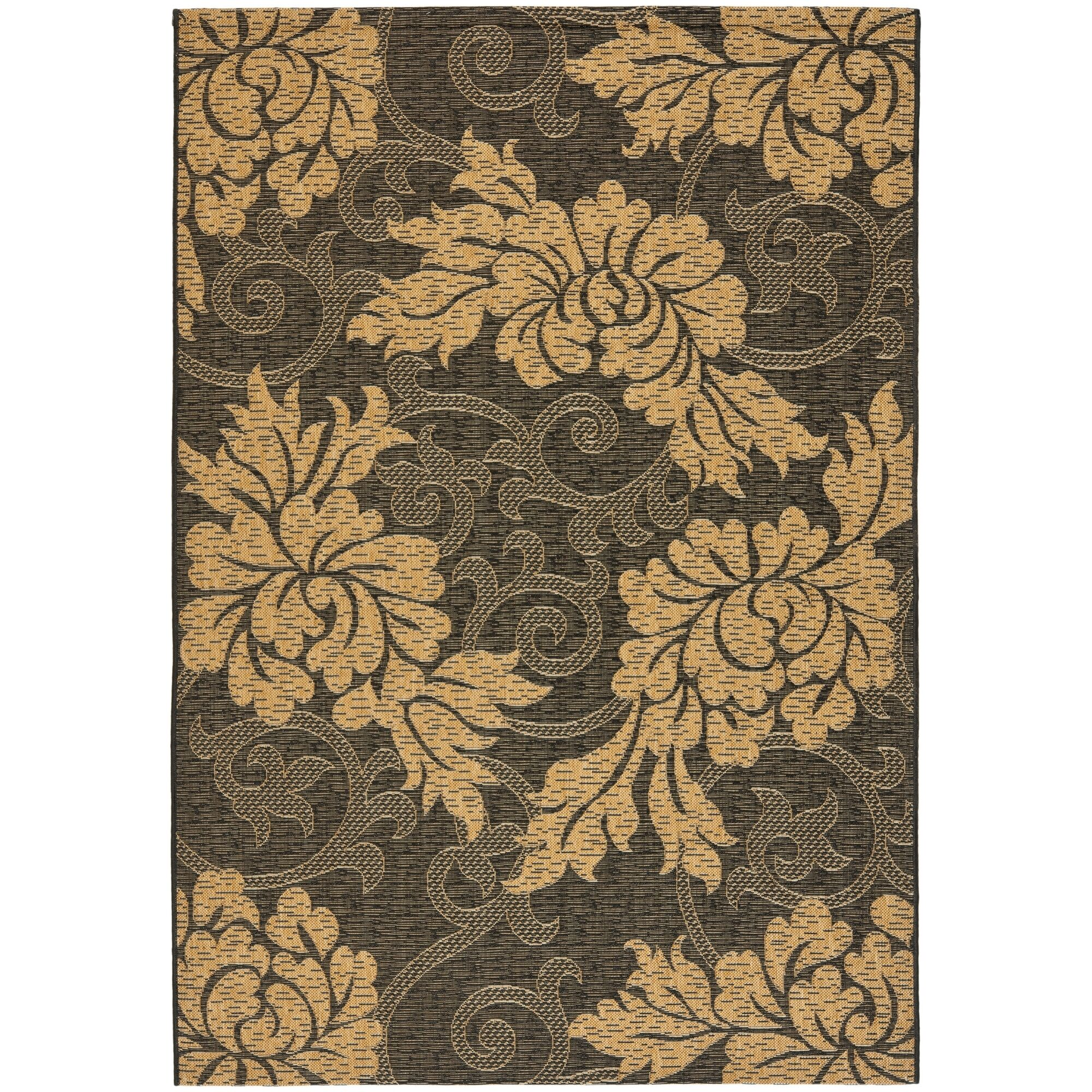 Laurel Black/Gray Indoor/Outdoor Area Rug Rug Size: Rectangle 8' x 11'2