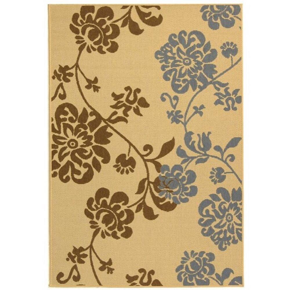 Laurel Brown/Blue Indoor/Outdoor Area Rug Rug Size: Rectangle 5'3