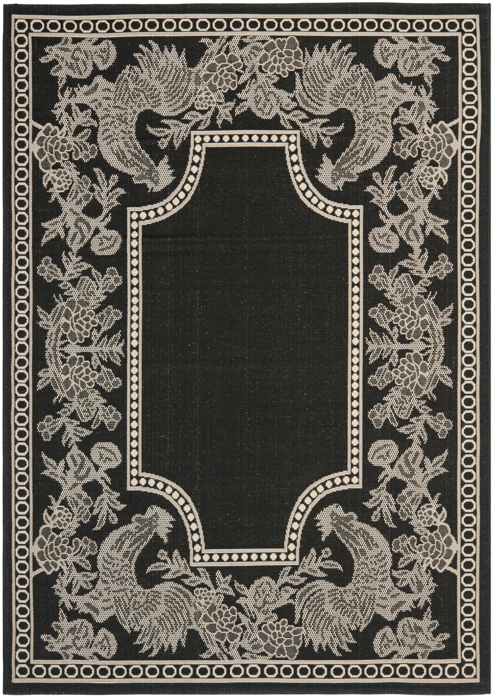 Laurel Black/Sand Indoor/Outdoor Rug Rug Size: Rectangle 6'7