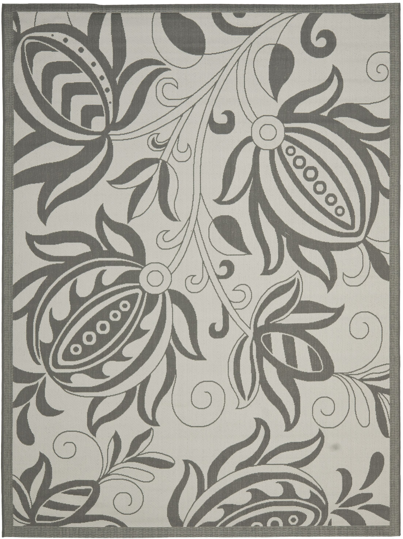 Laurel Light Grey/Anthracite Indoor/Outdoor Area Rug Rug Size: Rectangle 8' x 11'2