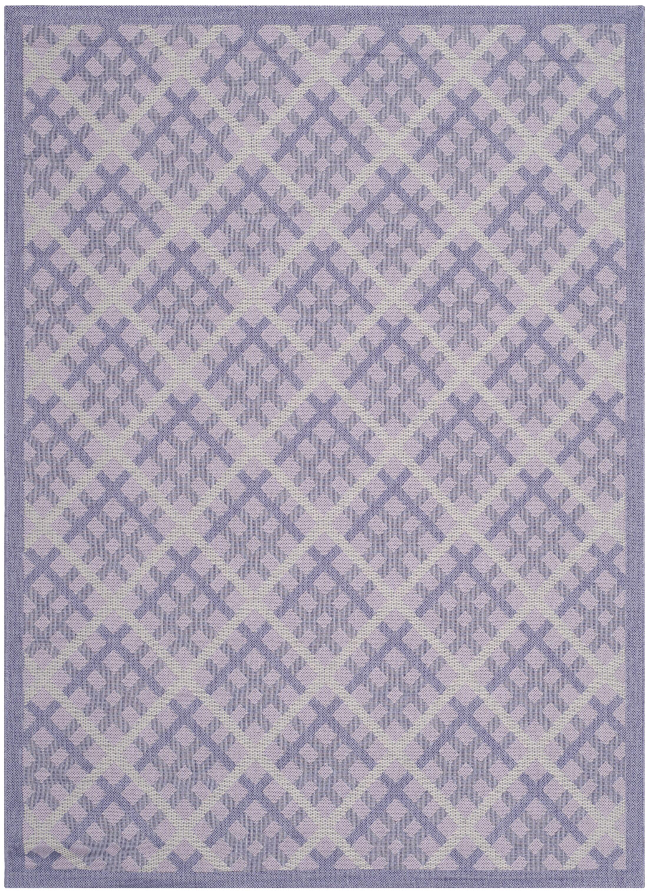 Laurel Lilac / Dark Lilac Indoor/Outdoor Rug Rug Size: Rectangle 5'3