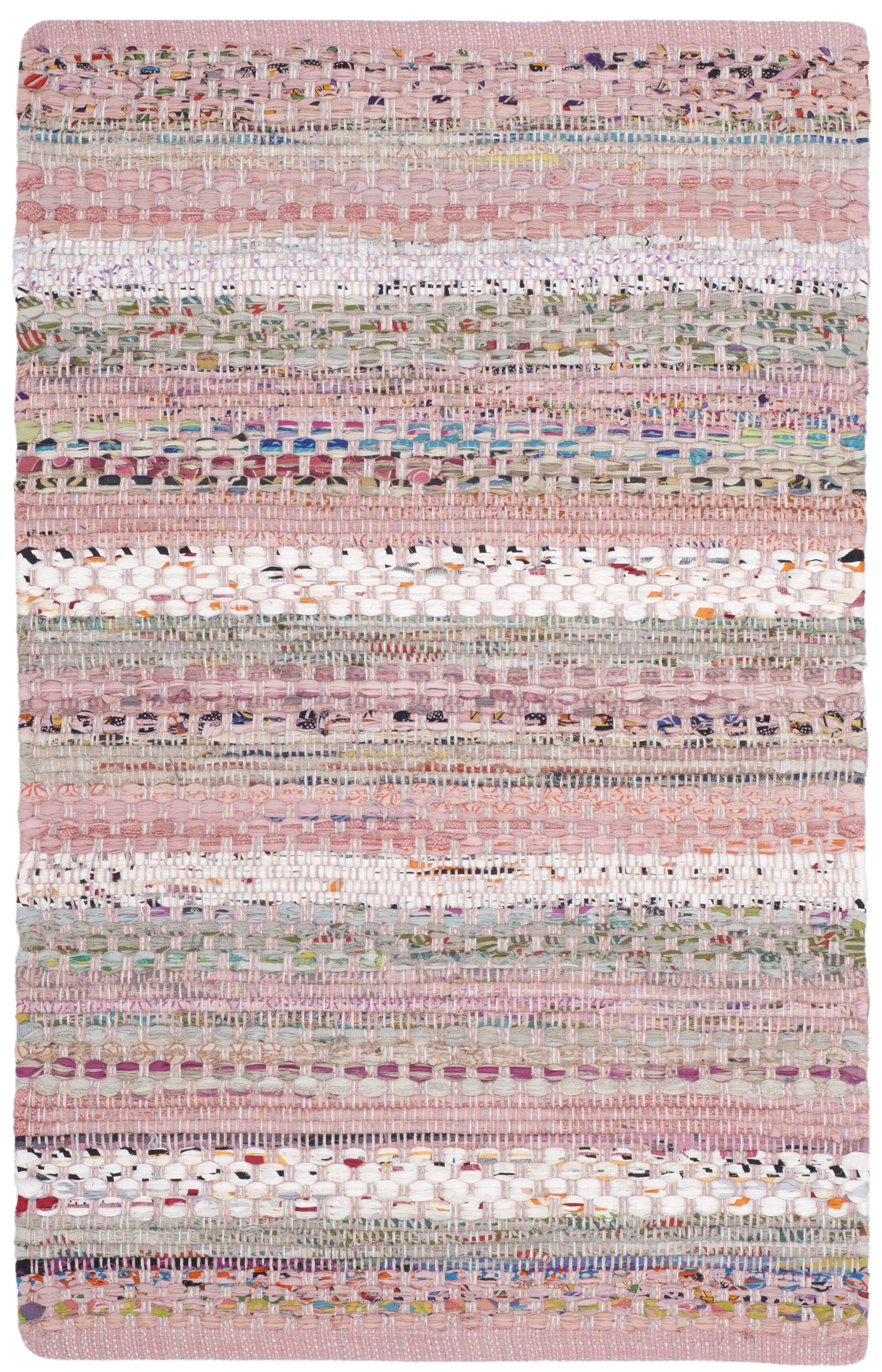 Vesey Hand-Woven Pink/Blue Area Rug Rug Size: Square 6'