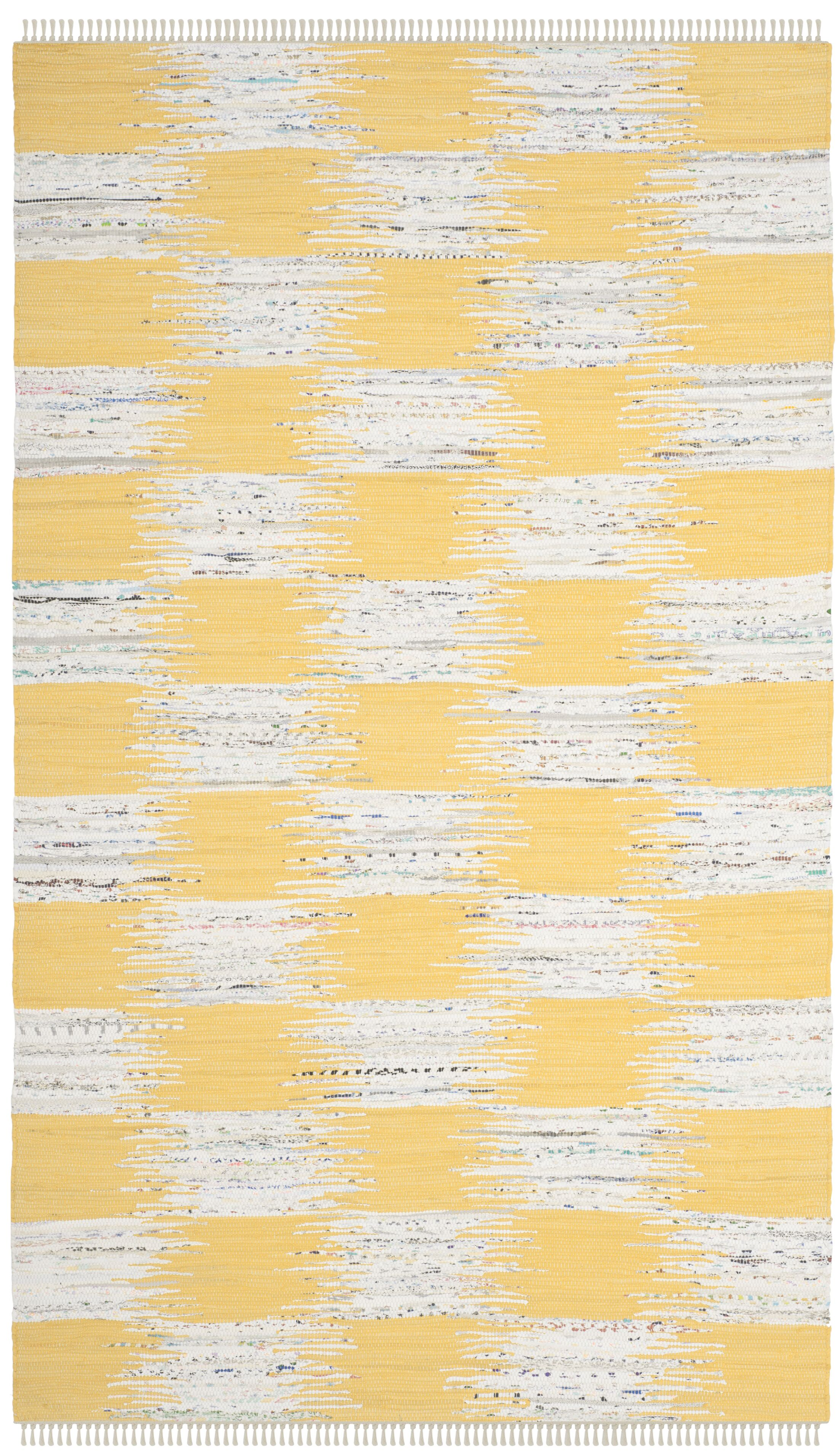 Opie Hand-Woven Yellow/Gray Area Rug Rug Size: Rectangle 8' x 10'