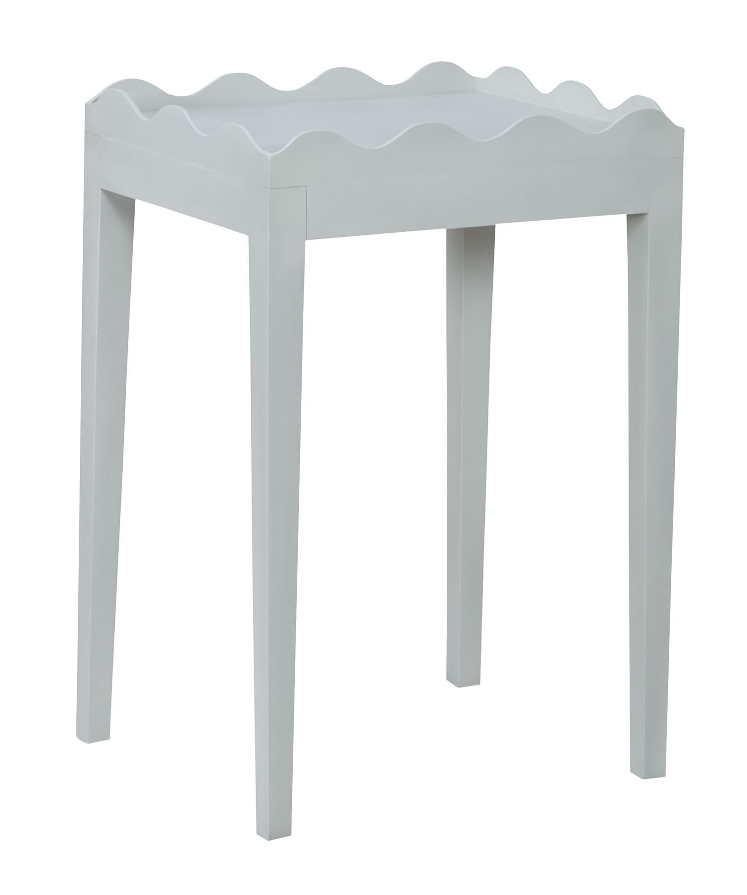 Felicien Scalloped End Table