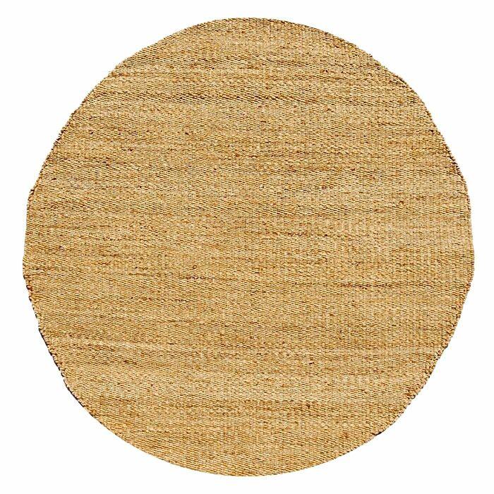 Ephemerine Bleach Area Rug Rug Size: Round 8'
