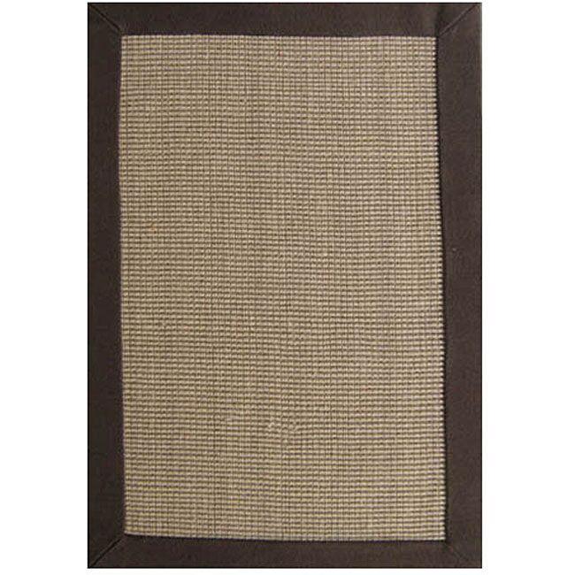 Ephemerine Natural/Brown Area Rug Rug Size: Rectangle 9' x 12'