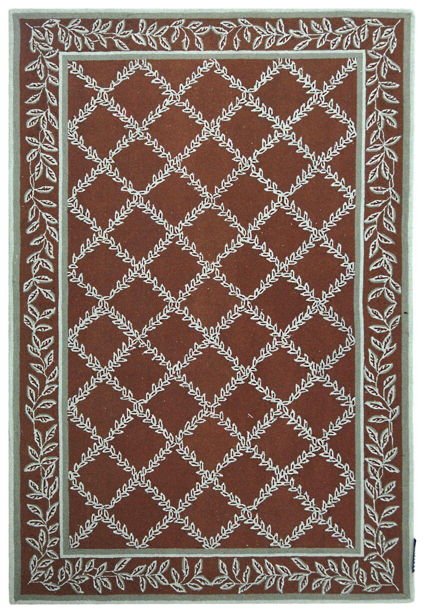 Kinchen Sage/Brown Area Rug Rug Size: Rectangle 7'9