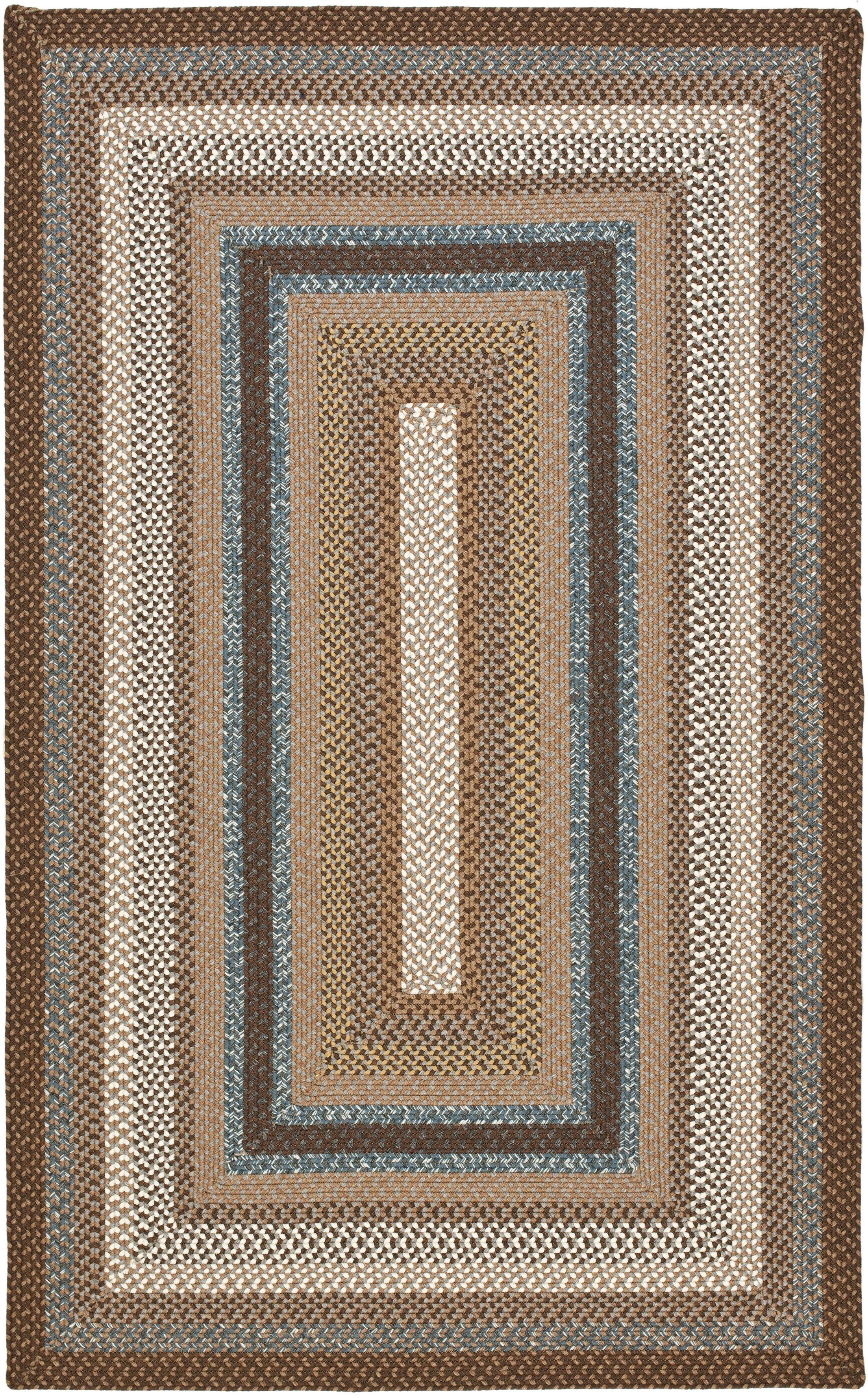Liptak Hand-Braided Brown Area Rug Rug Size: Rectangle 9' x 12'