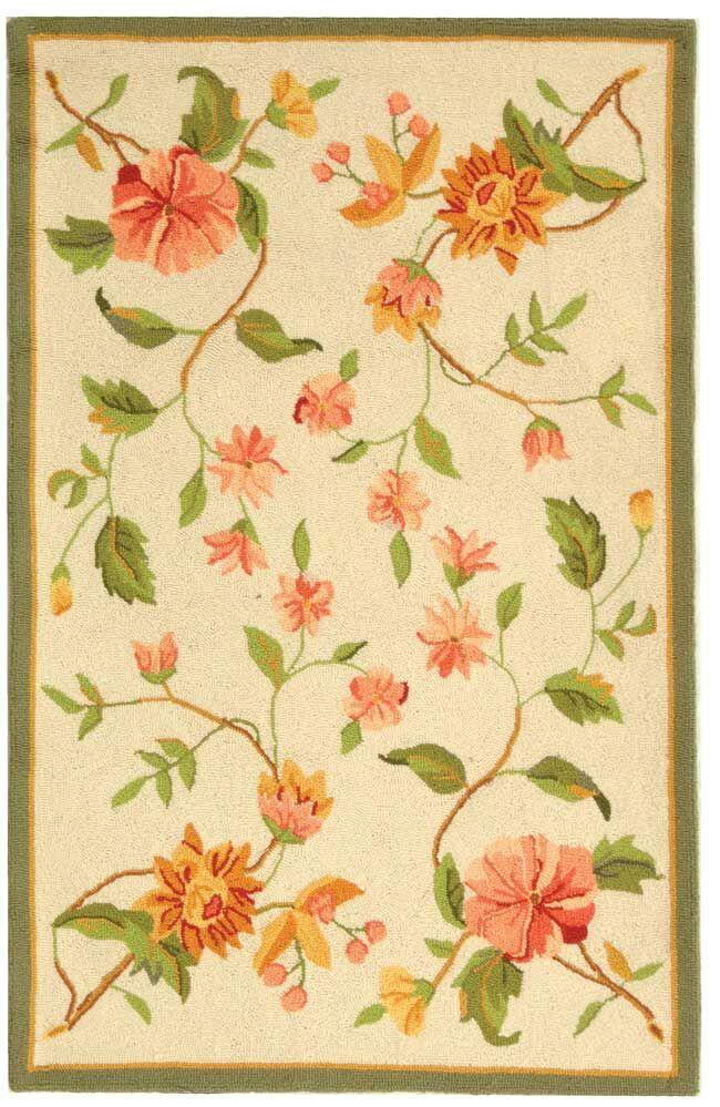Kinchen Beige Floral Rug Rug Size: Rectangle 2'9