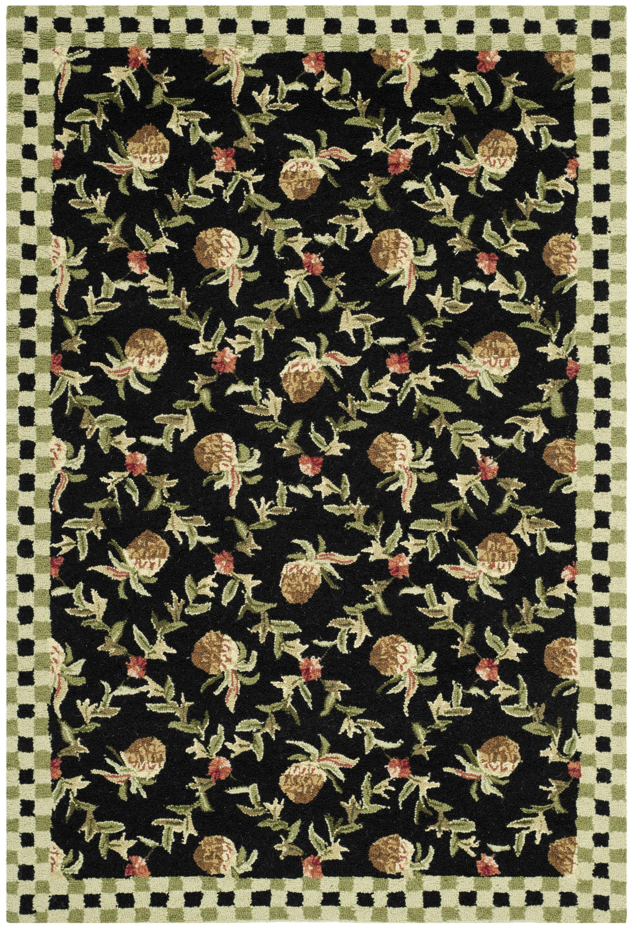 Kinchen Black/Ivory Rug Rug Size: Rectangle 5'3