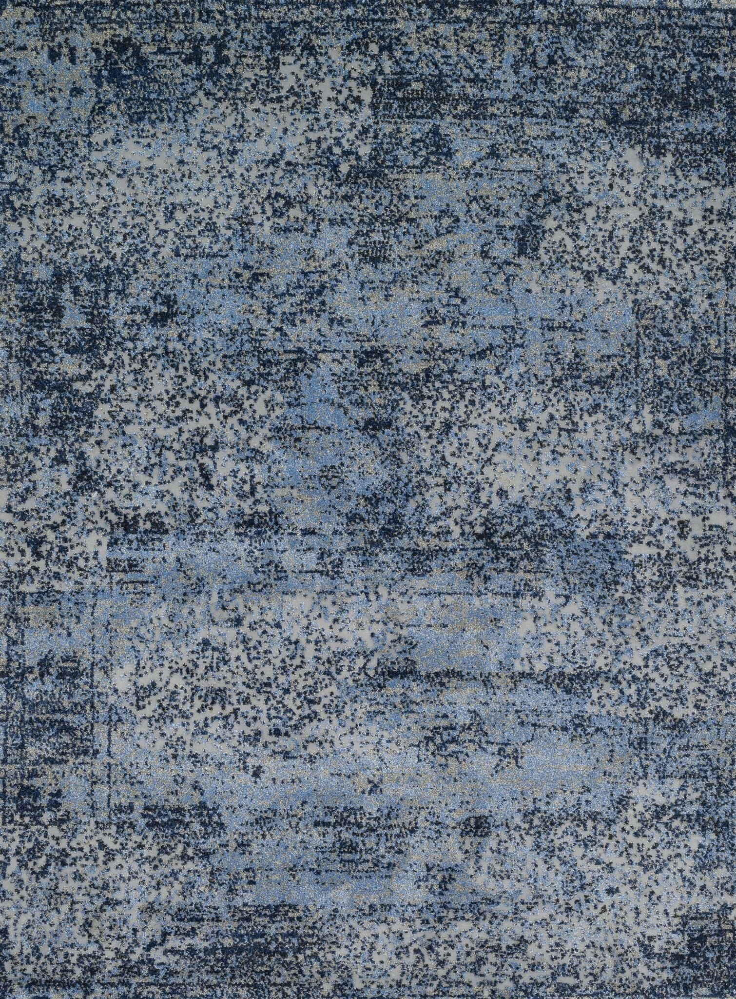 Aurora Light Blue/Gray Area Rug Rug Size: Square 1'6