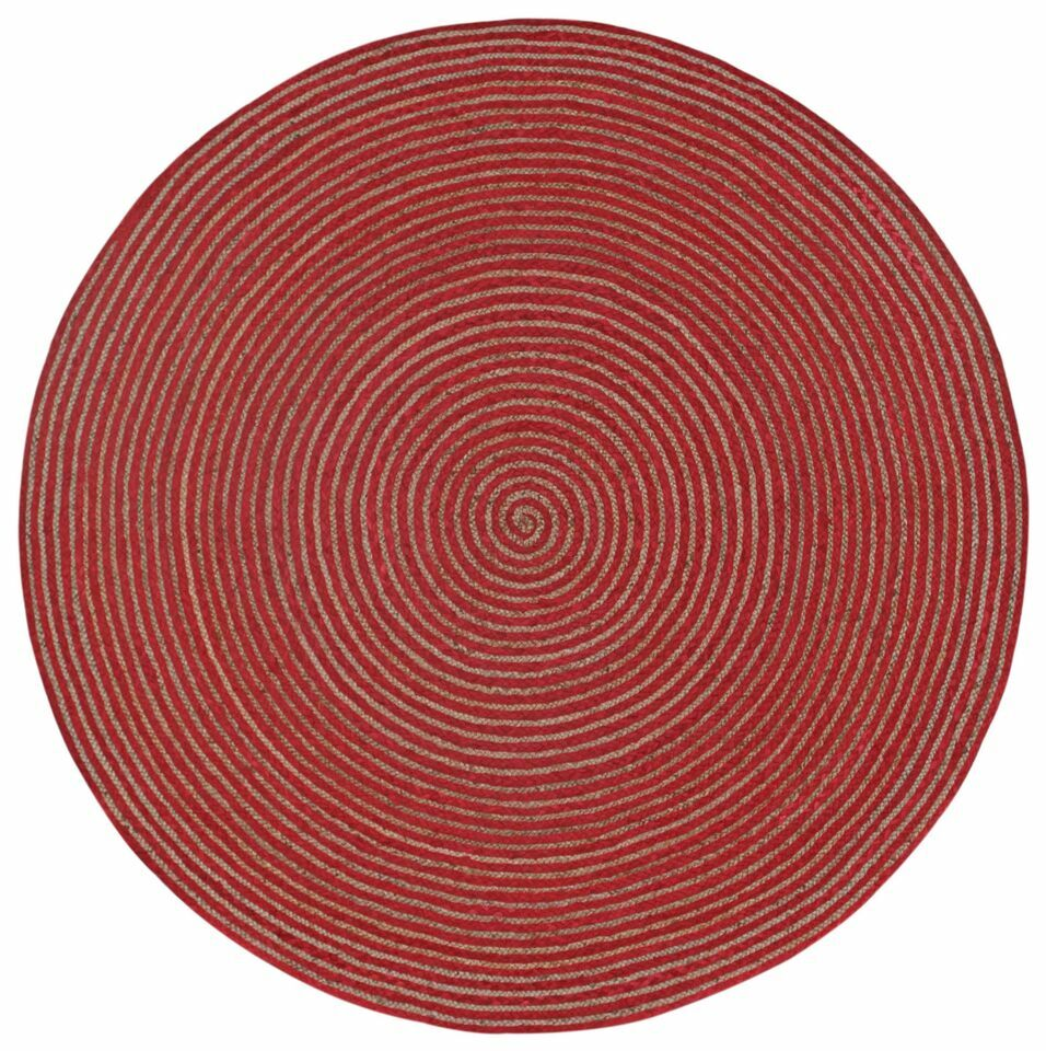 Latour Hand-Loomed Red Area Rug Rug Size: Round 6'