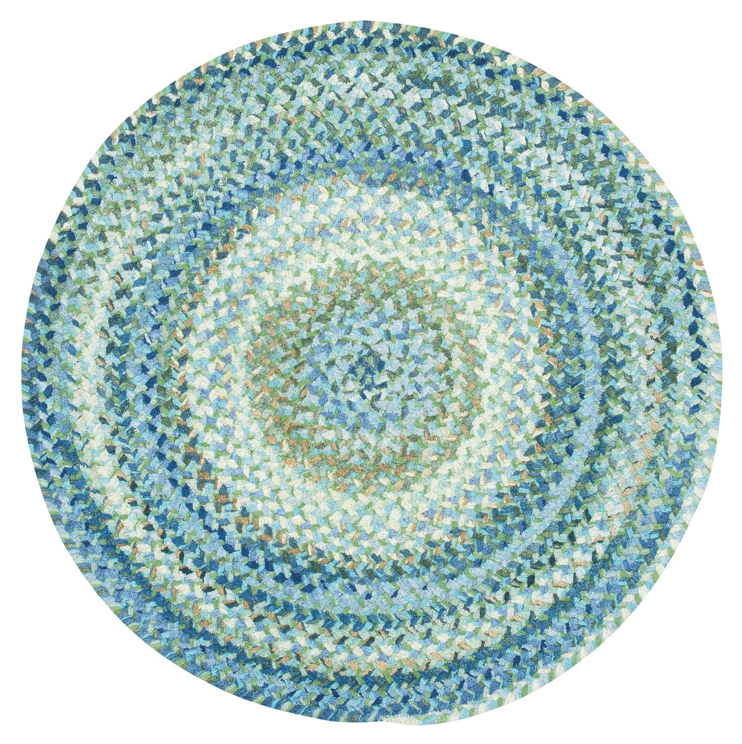Wilhelmine Light Blue Area Rug Rug Size: Round 3'