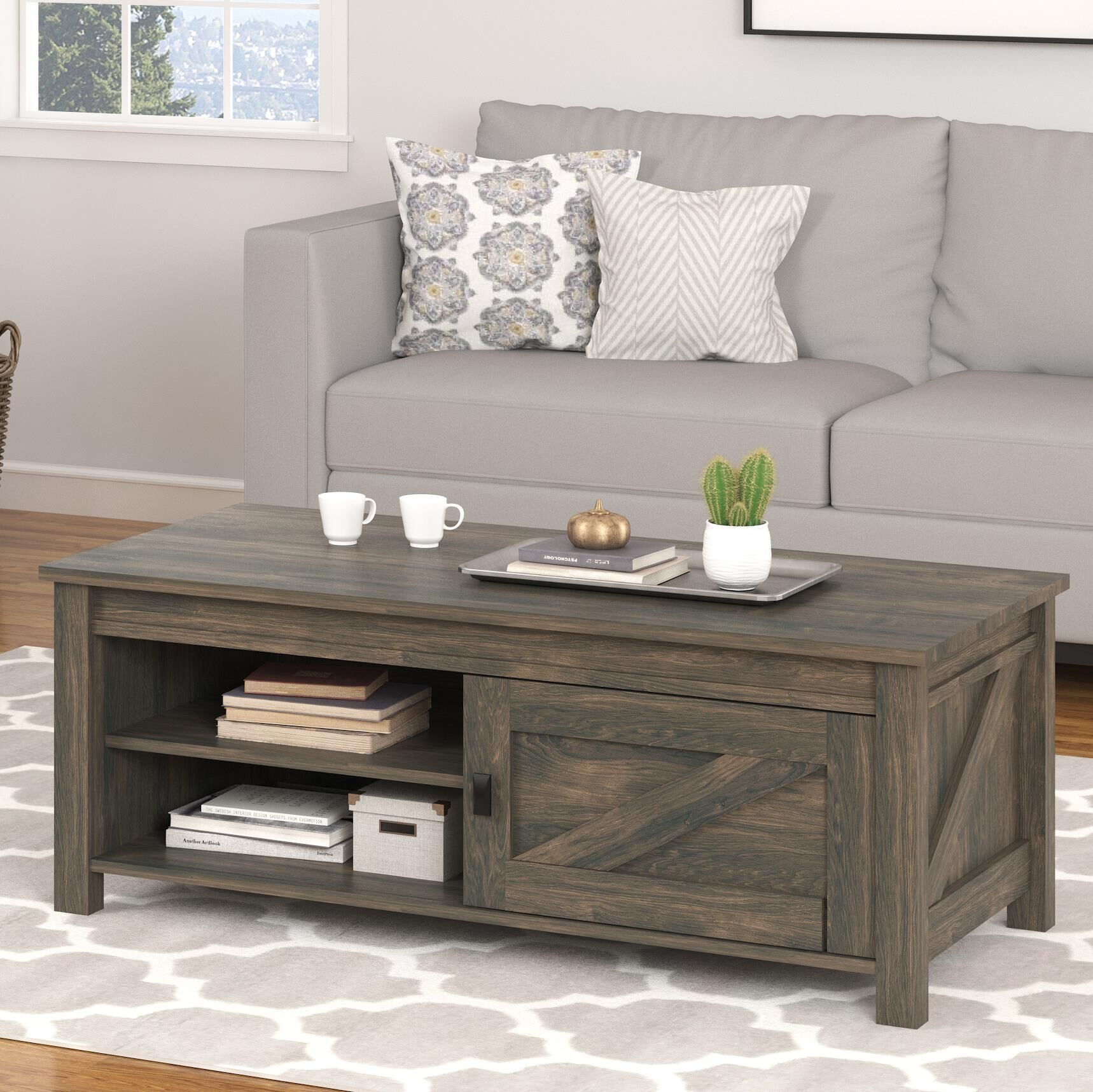 Cleveland Coffee Table Color: Weathered Oak