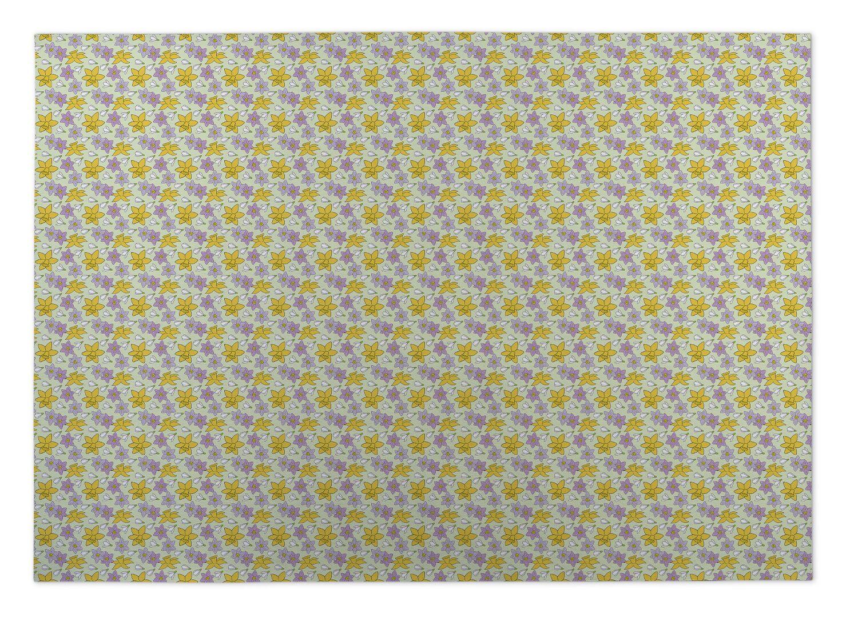 Lacy Floral Doormat Mat Size: Square 8'