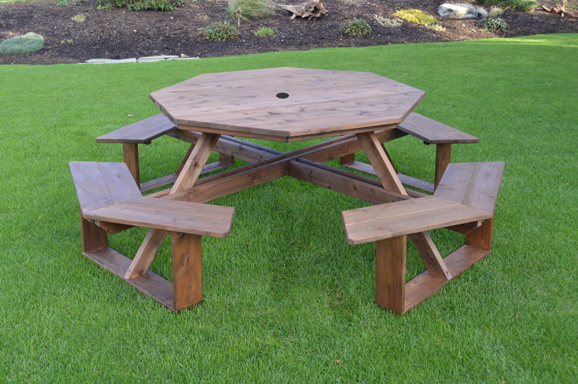 Sirna Wooden Picnic Table Color: Gray Stain