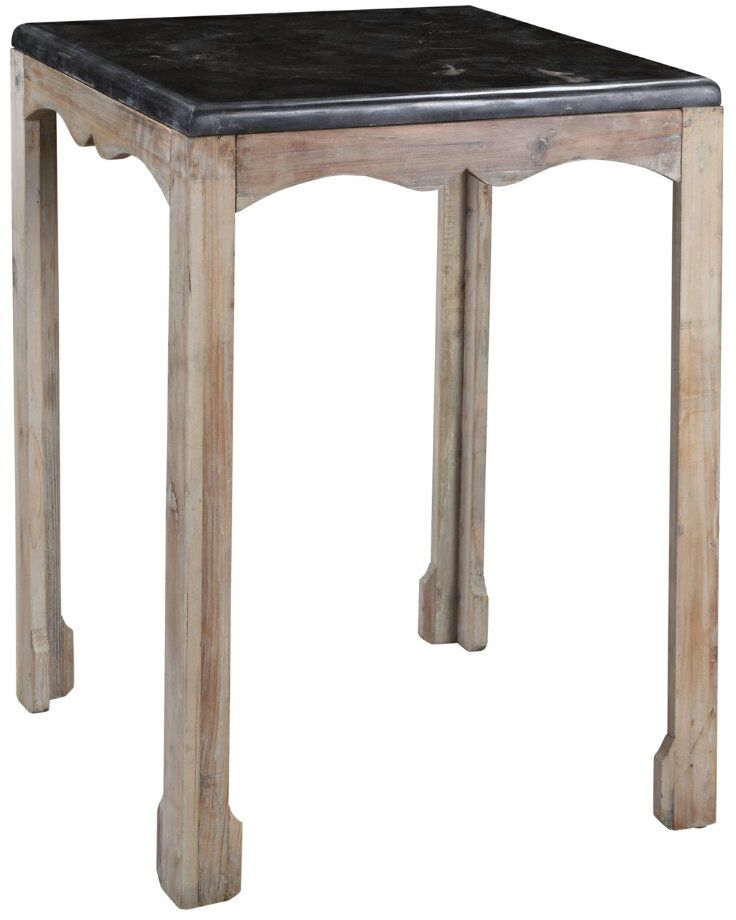 Dayne Side Table in Gray Wash Color: Gray Wash