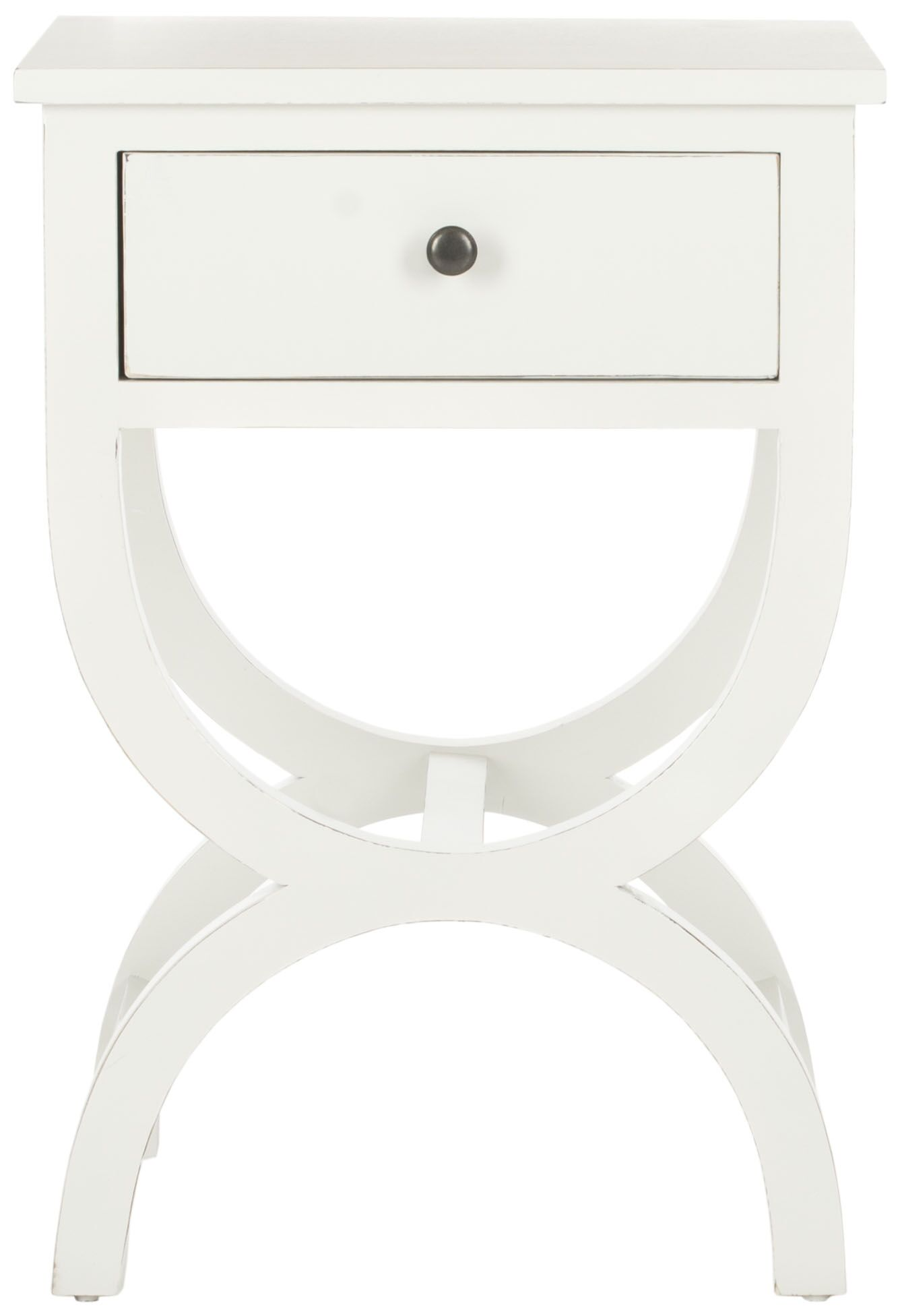 Laverriere End Table with Storage� Color: Shady  White