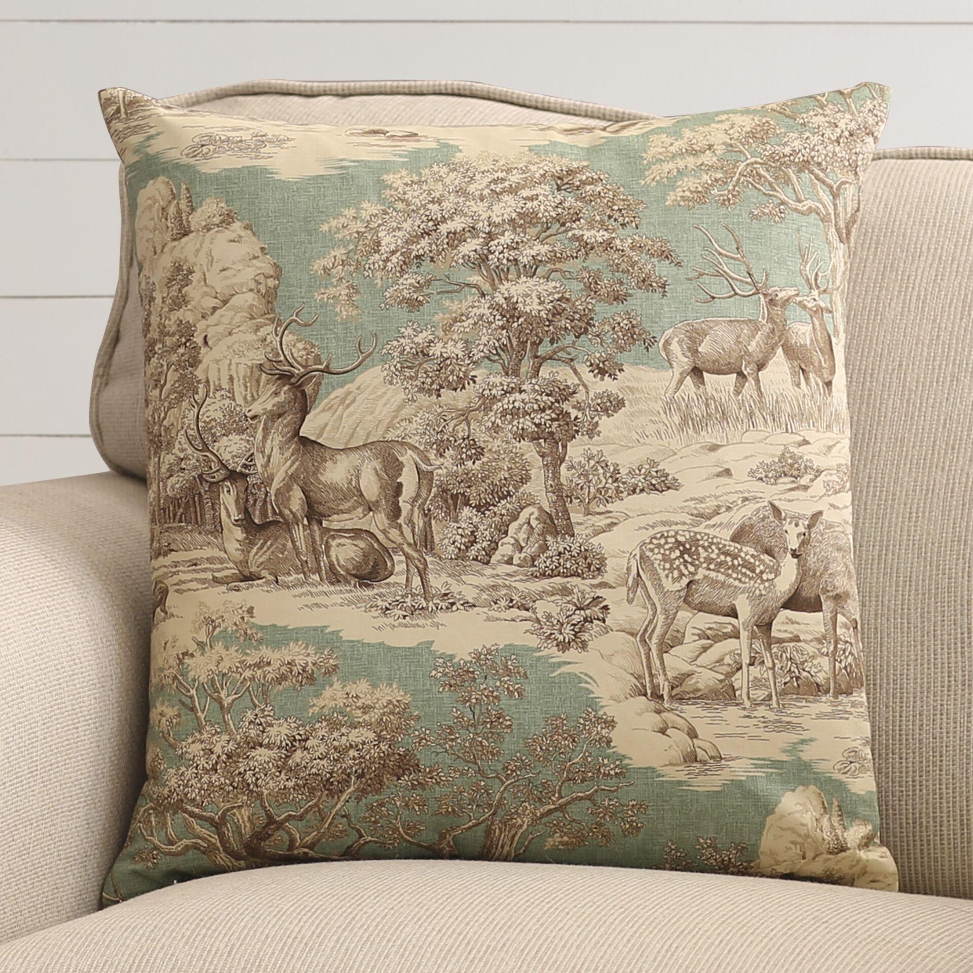 Leora 100% Cotton Throw Pillow Color: Aqua Back, Size: 20